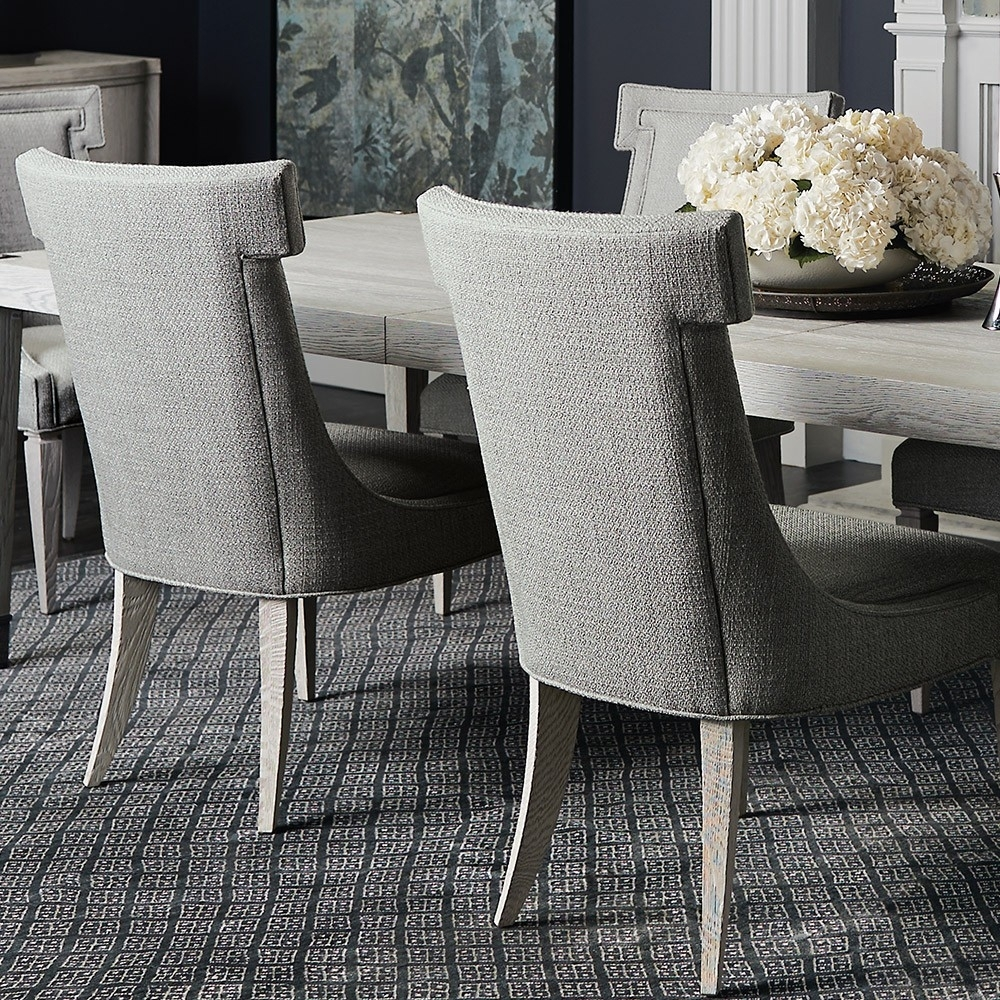 Most Current Lindy Dove Grey Side Chairs With Domaine Blanc Upholstered Side Chair (Each) In Dove White (View 15 of 20)