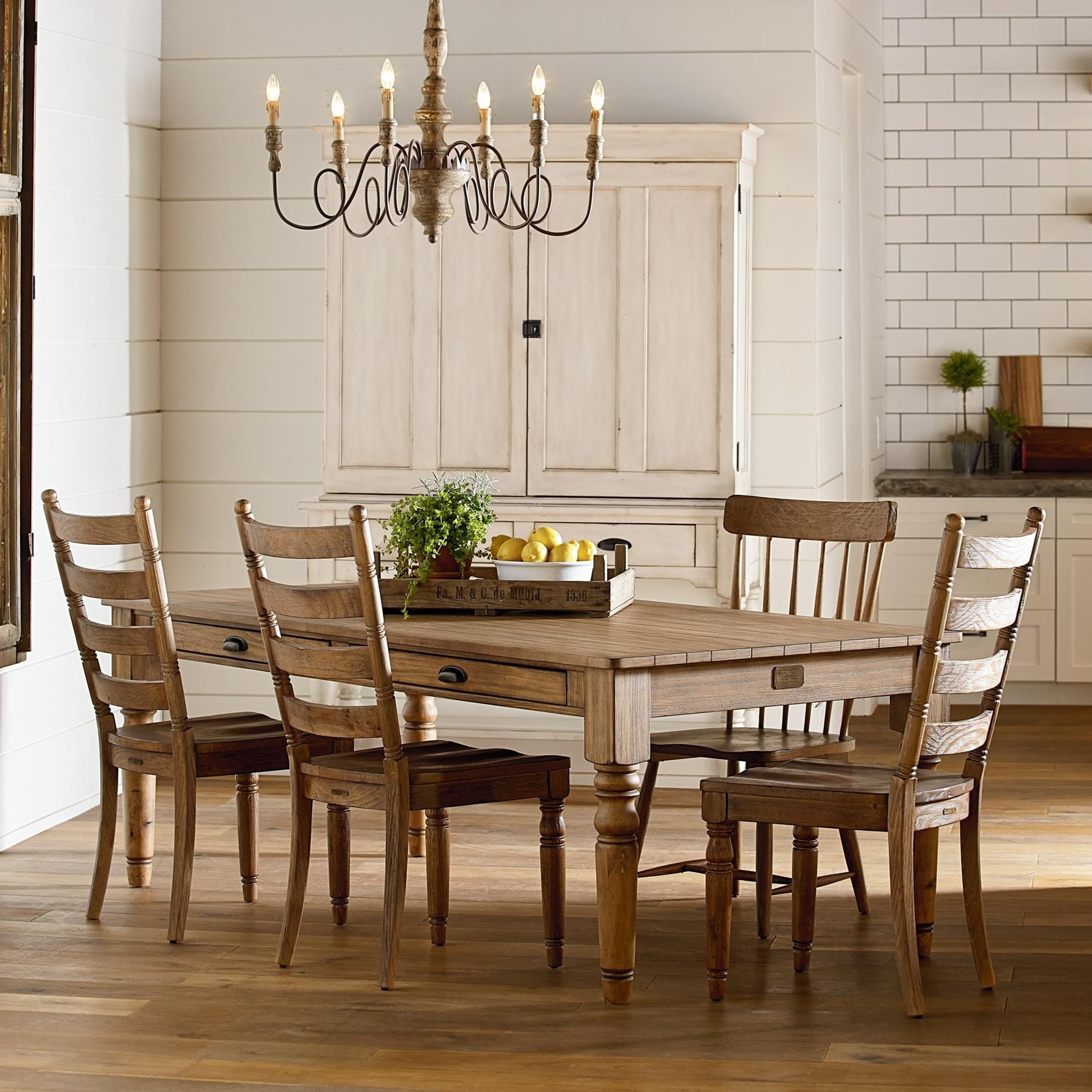 Most Current Magnolia Home Kempton Bench Side Chairs With Primitive Dining Room Groupmagnolia Homejoanna Gaines (#14 of 20)