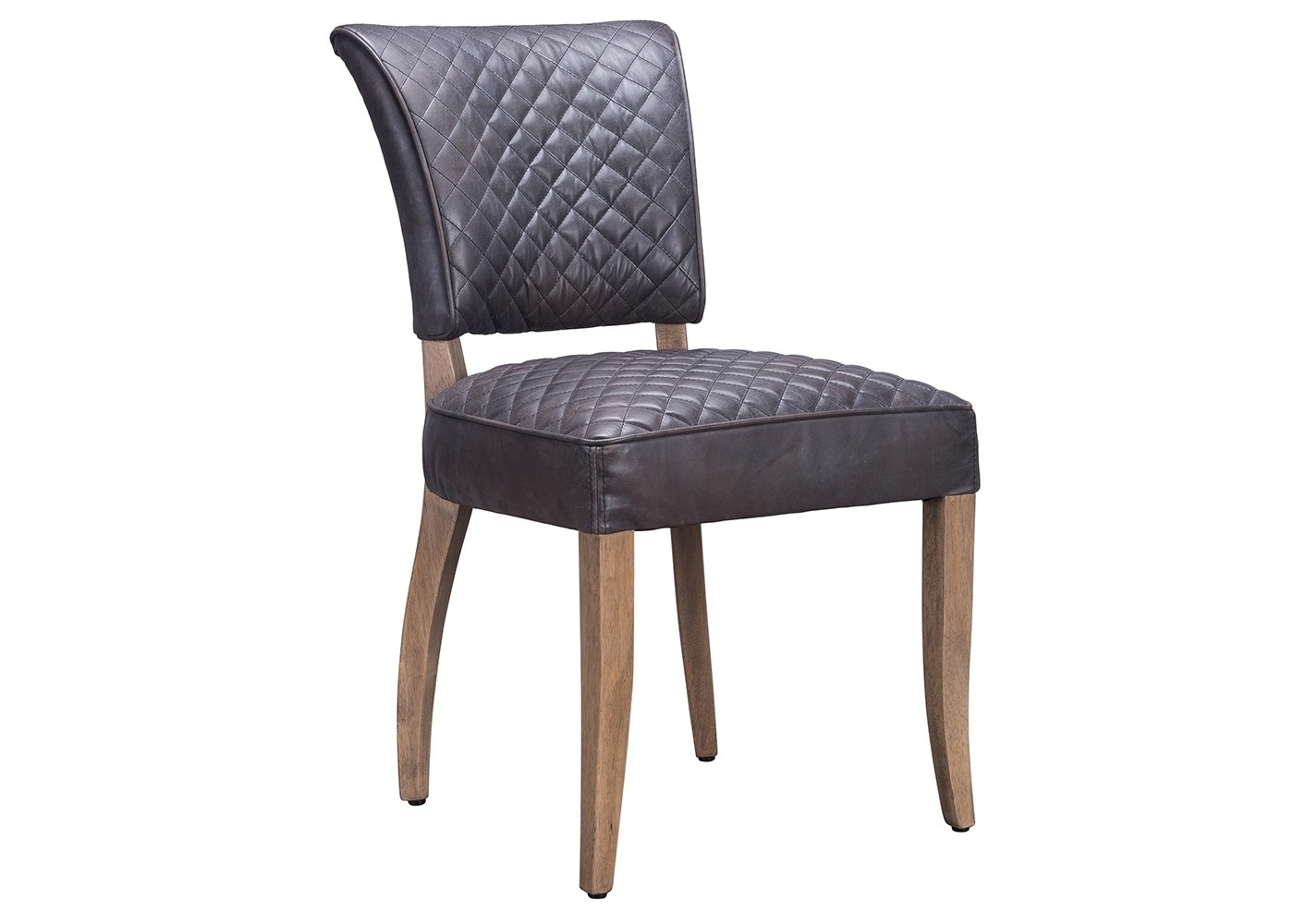 Most Current Quilted Black Dining Chairs Inside Timothy Oulton Mimi Quilt Dining Chair Destroyed Black Leather (#10 of 20)