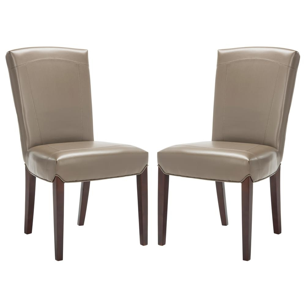 Inspiration about Most Popular Clay Side Chairs Throughout Safavieh Ken Clay Bicast Leather Side Chair (Set Of 2) Hud8200B Set2 (#2 of 20)