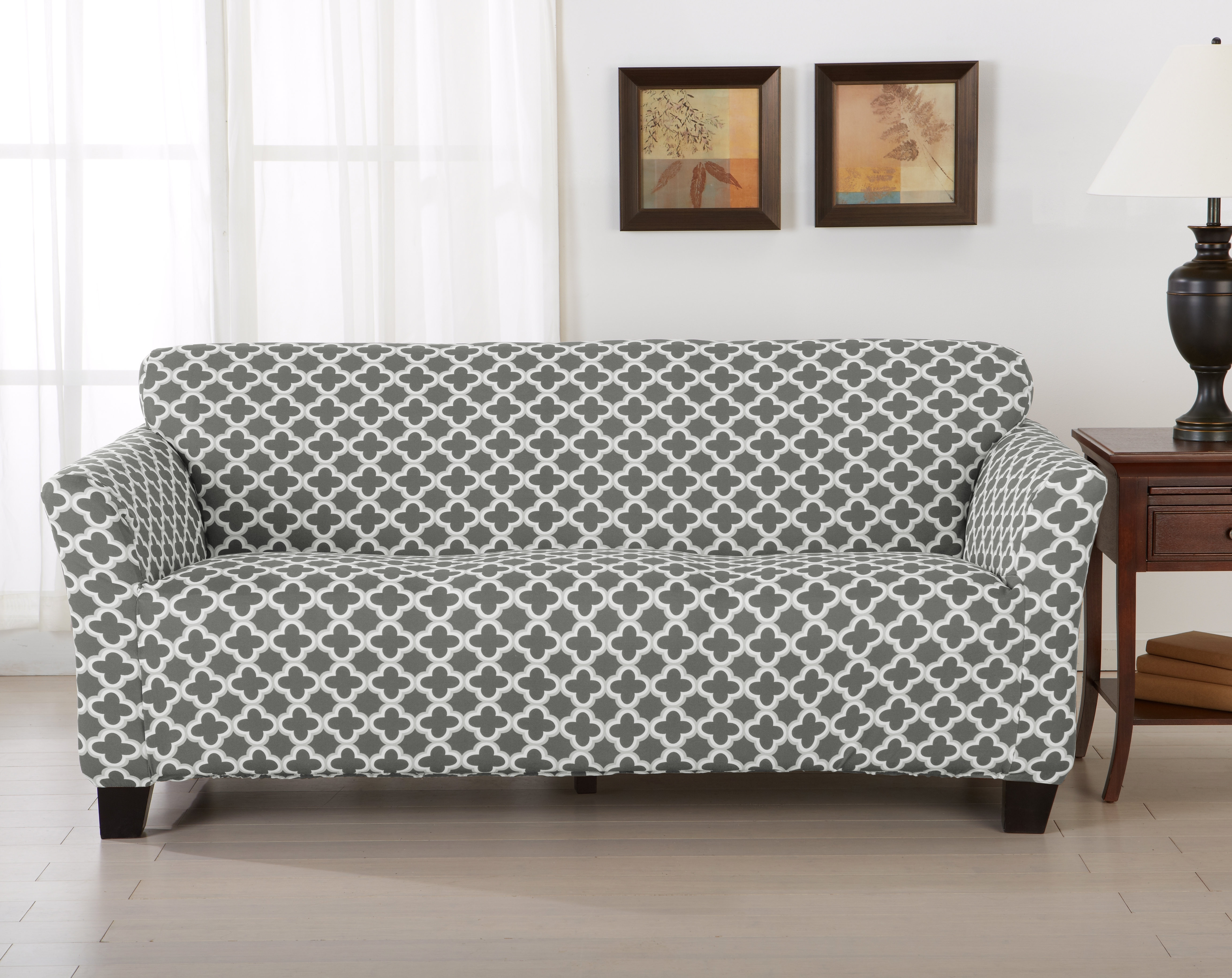 Most Popular Pearson Grey Slipcovered Side Chairs In Home Fashion Designs Brenna Box Cushion Sofa Slipcover & Reviews (#8 of 20)