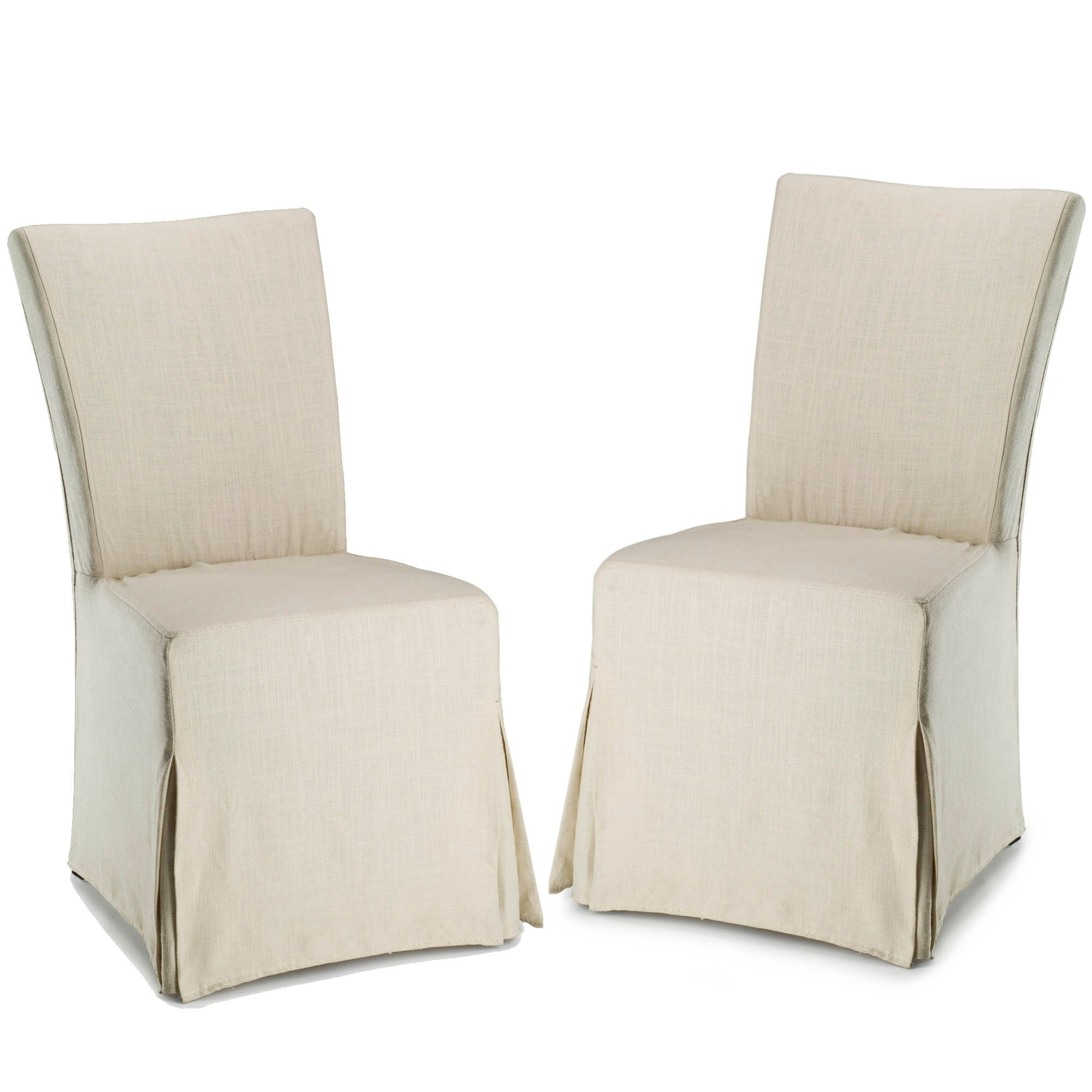 Inspiration about Most Popular Shop Safavieh Parsons Dining Slipcover Dining Chairs (Set Of 2) – 33 In Garten Linen Skirted Side Chairs Set Of 2 (#5 of 20)