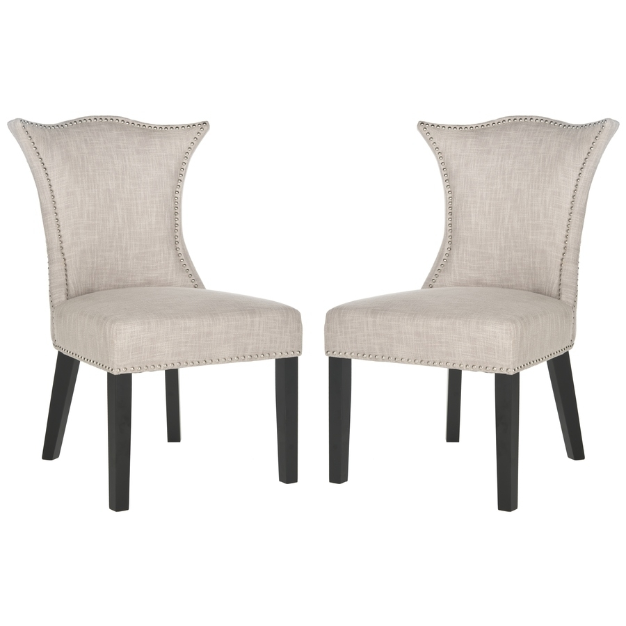 Inspiration about Most Popular Shop Safavieh Set Of 2 Ciara Side Chairs At Lowes Inside Caira Black Upholstered Arm Chairs (#4 of 20)