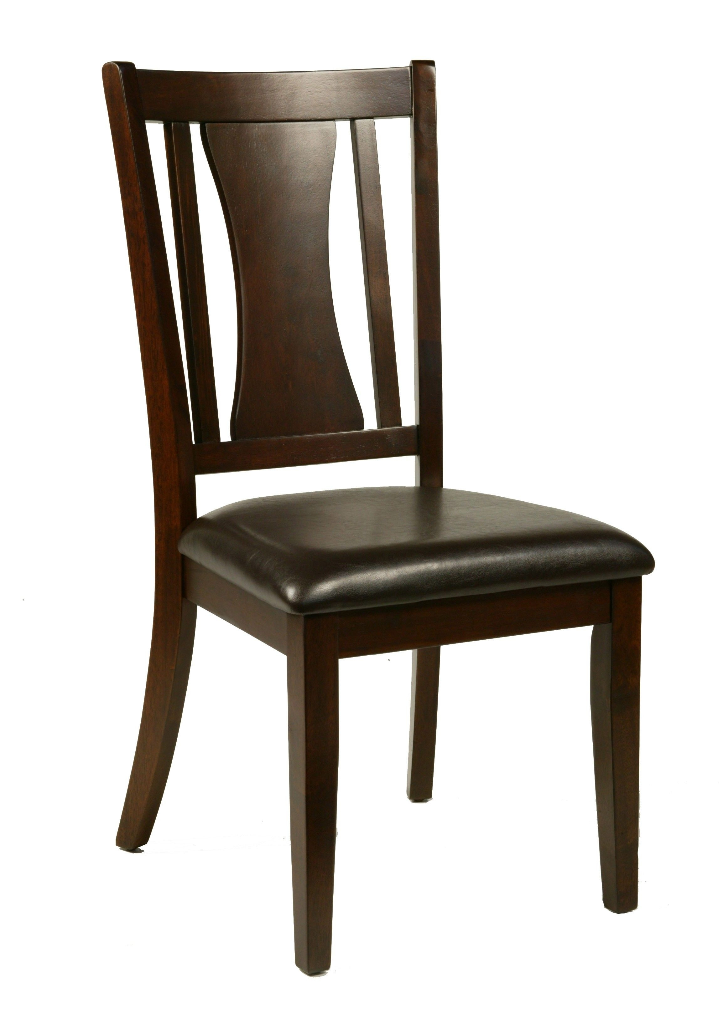 Most Recent Bradbury Cappuccino Side Chair With Faux Leather Cushion – Set Of 2 With Chandler Wood Side Chairs (#14 of 20)