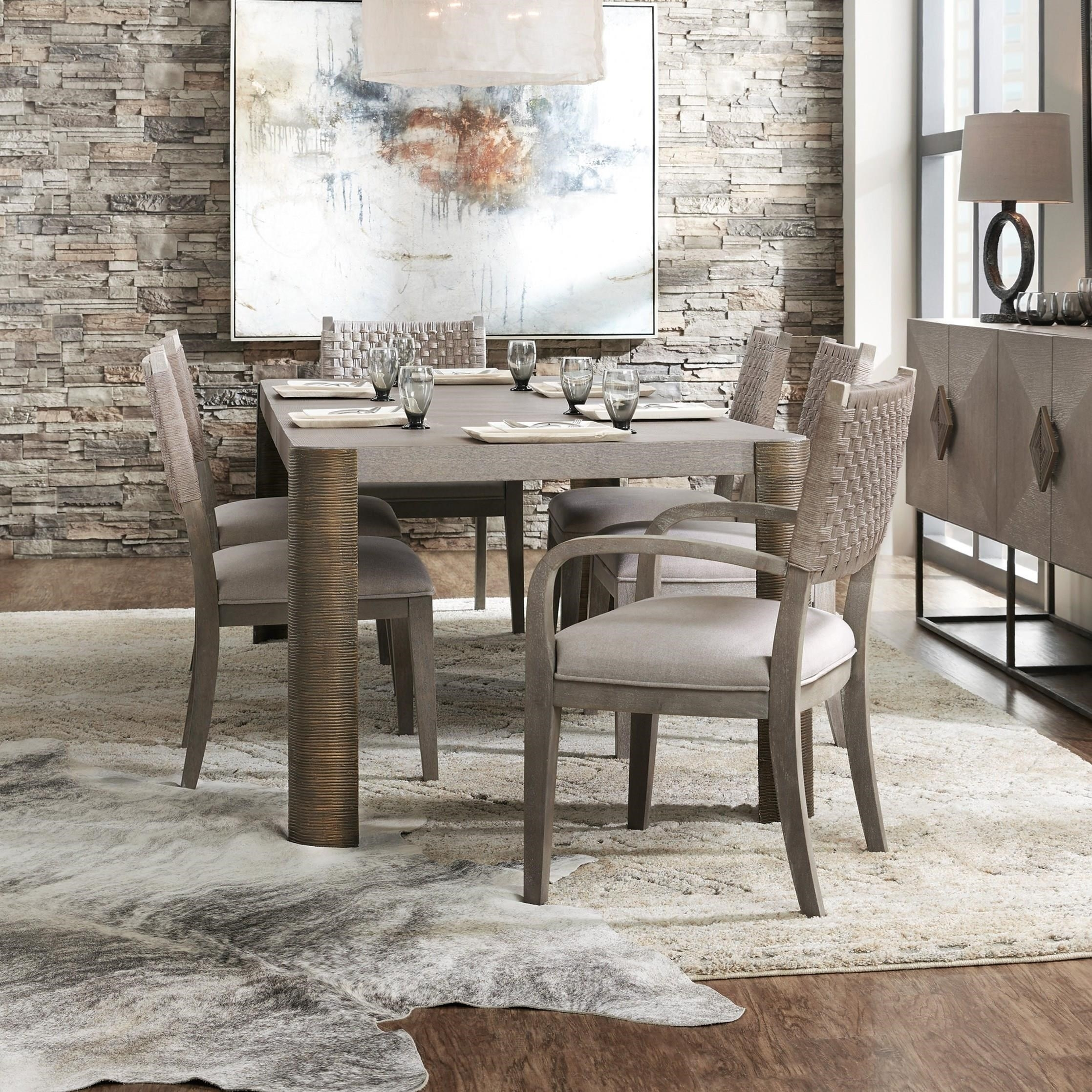 Most Recent Carmel Oak Side Chairs Pertaining To Hooker Furniture Miramar – Carmel 7 Piece Dining Table And Chair Set (#17 of 20)