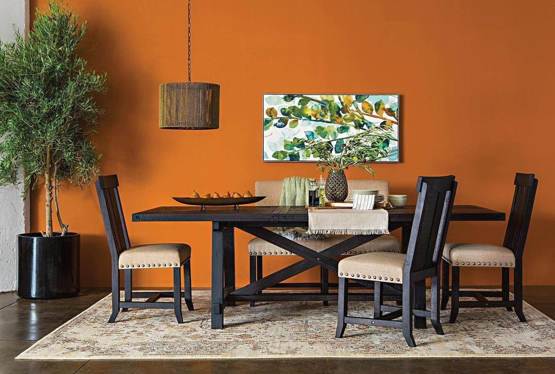 Most Recent Deluxe Rectangular Room Table Ismaya Design Image Jaxon Extension Throughout Jaxon Wood Side Chairs (View 11 of 20)