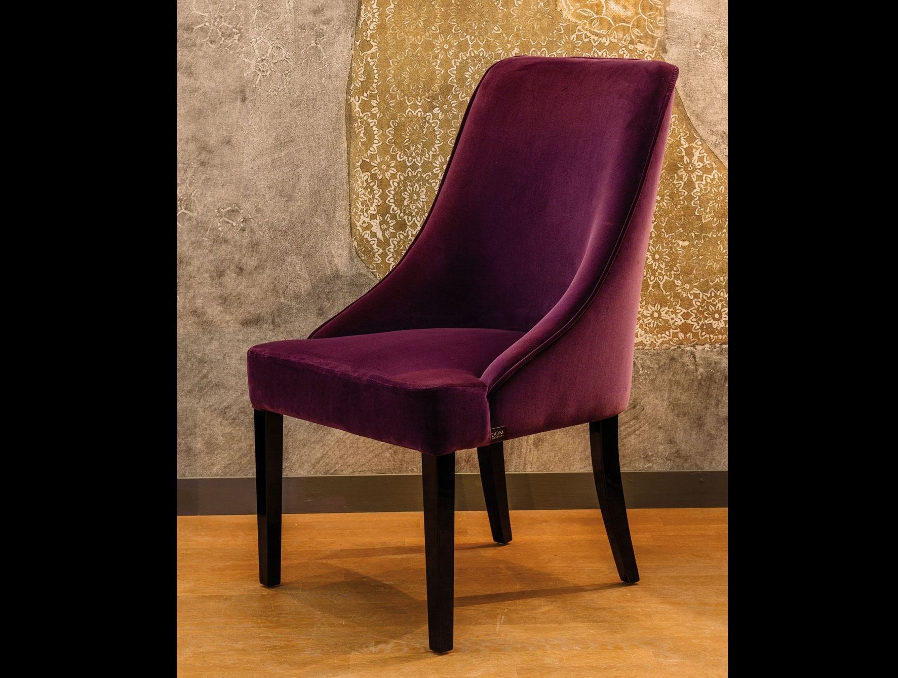 Most Recent Dom Side Chairs With Regard To Nella Vetrina Grace Modern Italian Designer Burgundy Upholstered (#16 of 20)