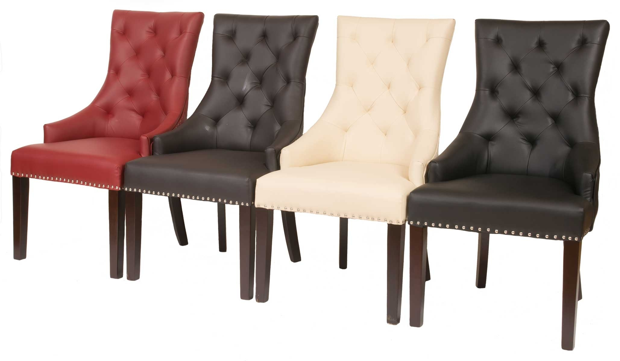 Inspiration about Most Recent Fontwell Matt Smart Leather Dining Chair Buttoned Back – Smart Within Quilted Brown Dining Chairs (#13 of 20)