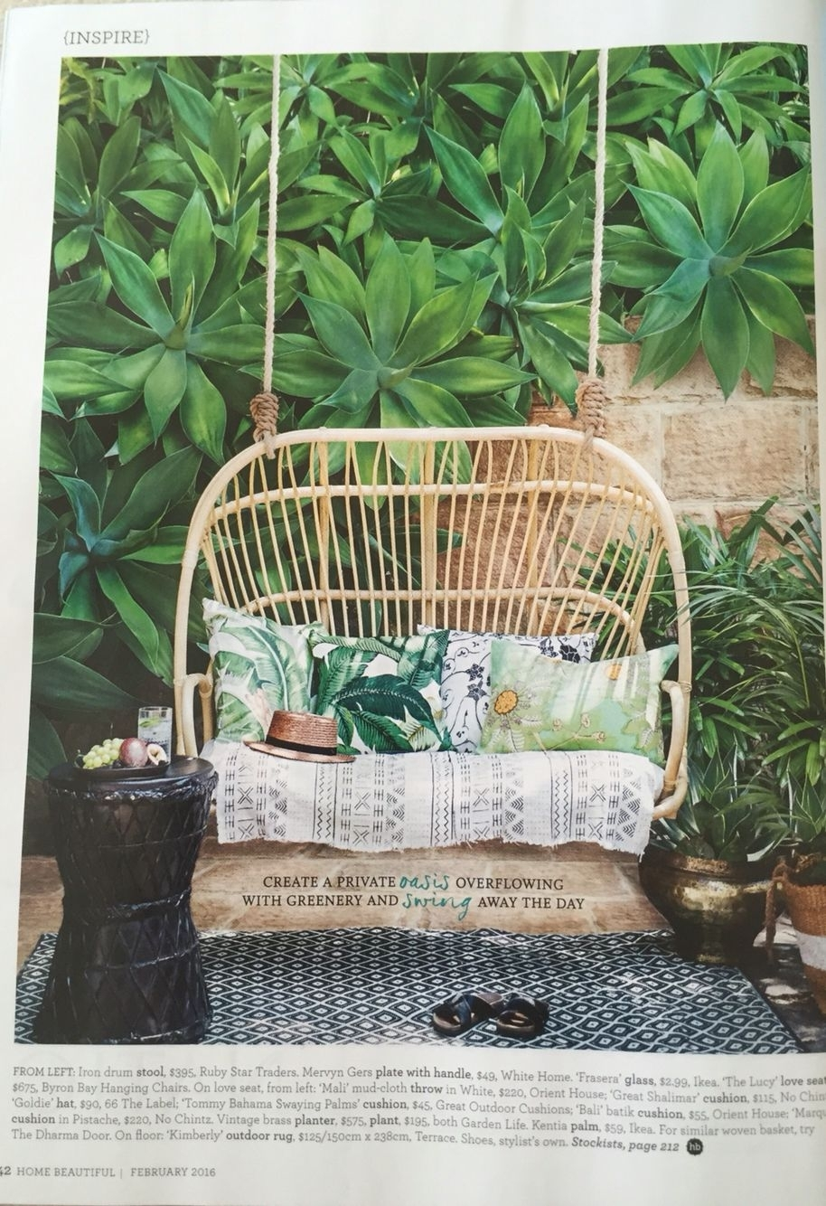 Inspiration about Most Recent Garten Onyx Chairs With Greywash Finish Set Of 2 Throughout Love This 2 Seater Cane Chair. Devine. House & Garden Feb 2016 (#13 of 20)