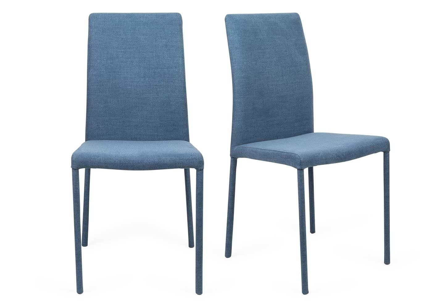 Inspiration about Most Recent Moda Blue Side Chairs Within Bronte Pair Of Dining Chairs (#5 of 20)