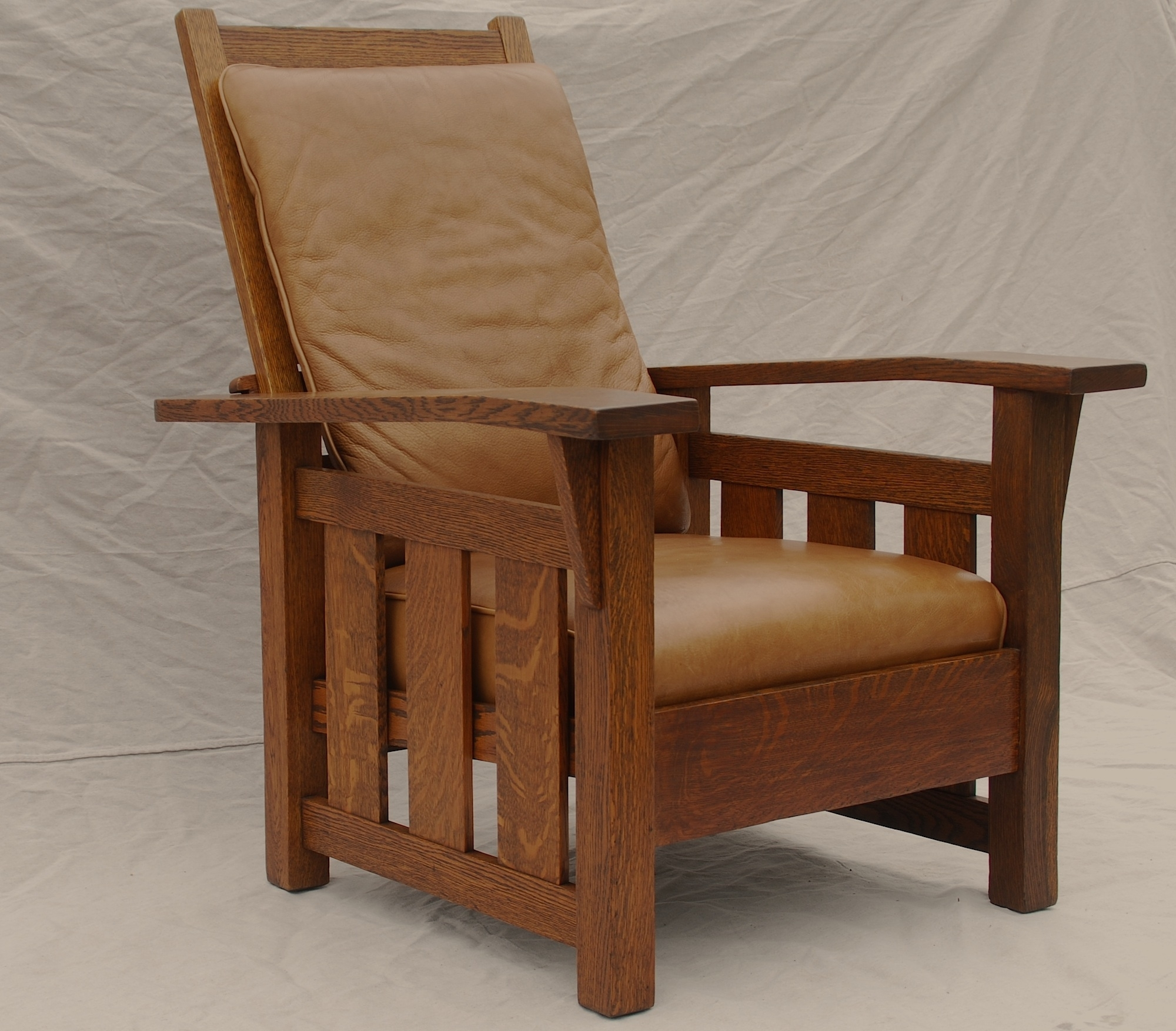 Most Recently Released Craftsman Arm Chairs Regarding Voorhees Craftsman Mission Oak Furniture – Stickley Era Quaint Art (#15 of 20)