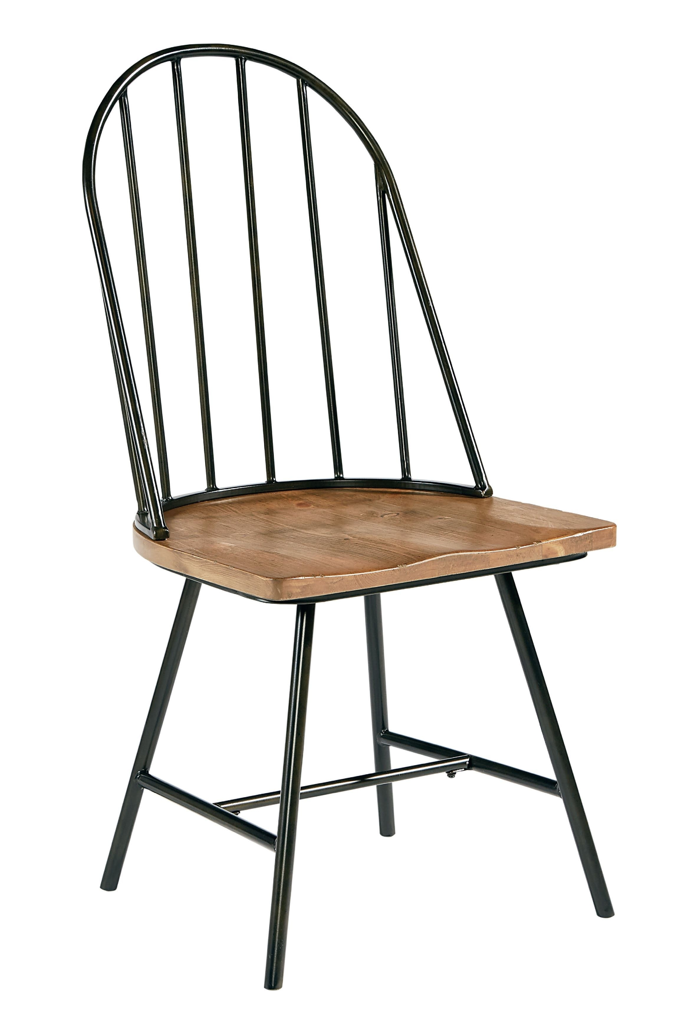 Most Recently Released Magnolia Home Molded Shell Saddle Side Chairs With Magnolia Home – Windsor Metal And Wood Hoop Chair St: (View 7 of 20)