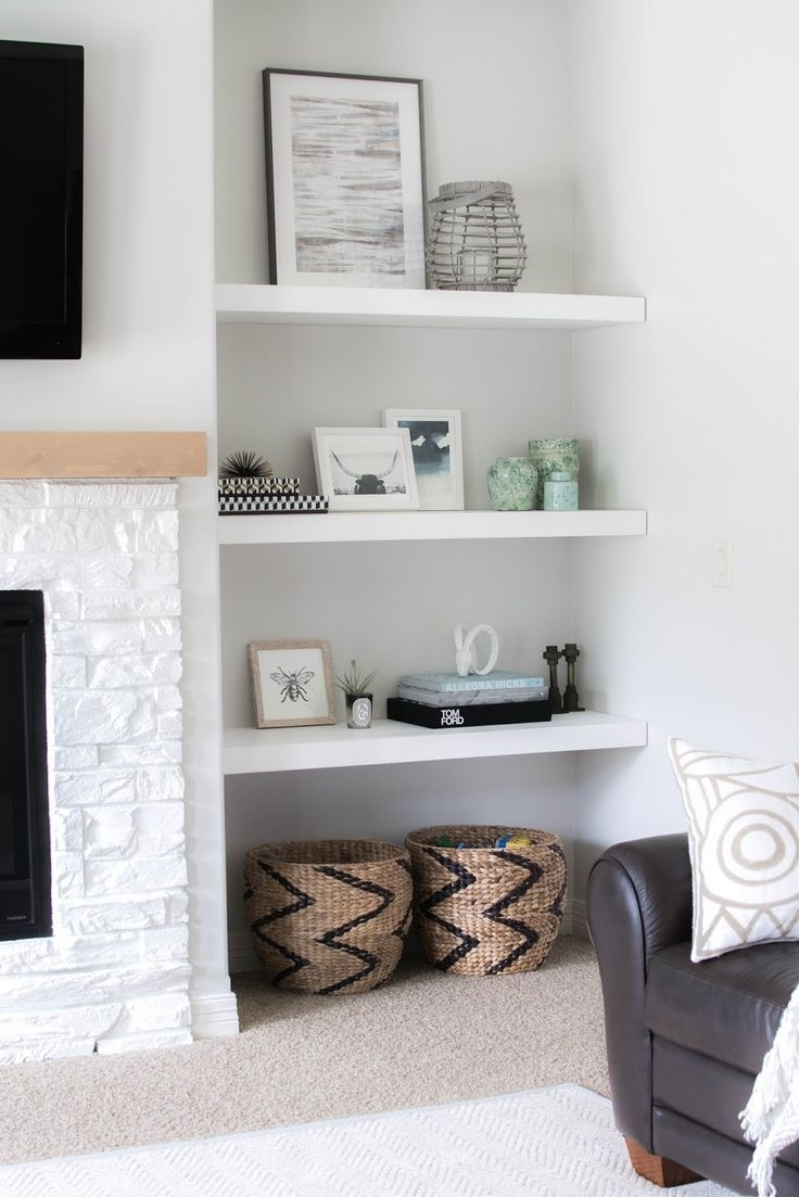 Inspiration about Most Recently Released Mandy Paper White Side Chairs In Mandy & Such: Styling Our New Floating Shelves (#13 of 20)