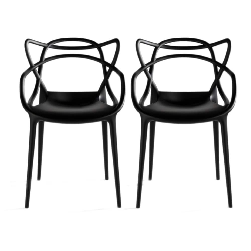 Inspiration about Most Recently Released Mod Made Contemporary Stackable Plastic Loop Dining Arm Chair (set With Mod Ii Arm Chairs (#17 of 20)