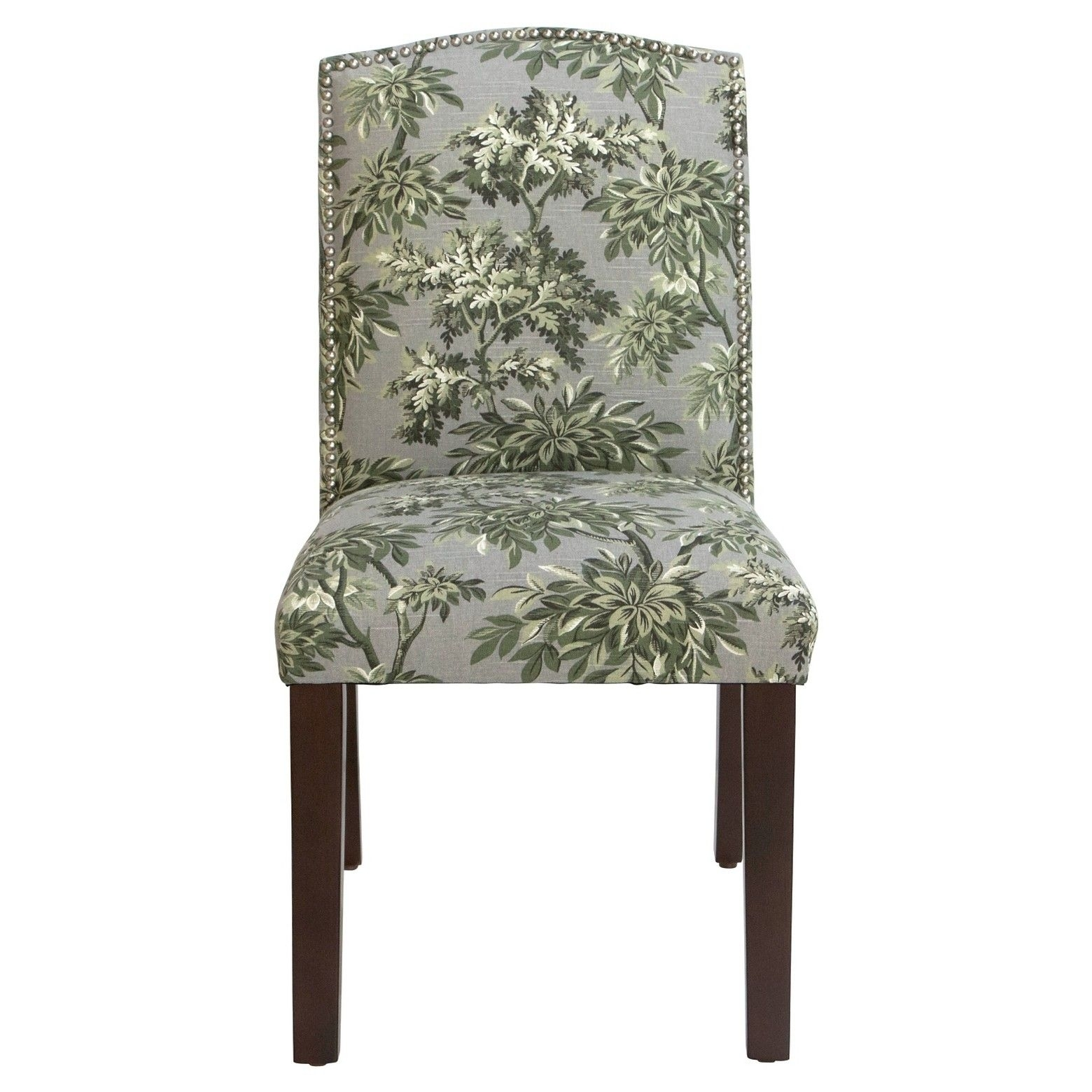 Inspiration about Most Recently Released Nail Button Arched Dining Chair – Sylvan Toile Greystone – Skyline Intended For Norwood Upholstered Side Chairs (#15 of 20)