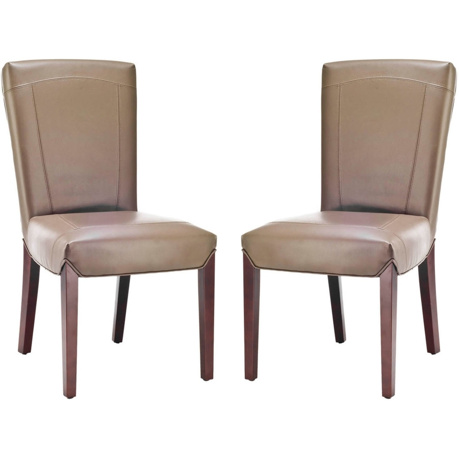 Most Recently Released Shop Safavieh Set Of 2 Ken Side Casual Clay Faux Leather Accent Regarding Clay Side Chairs (#14 of 20)