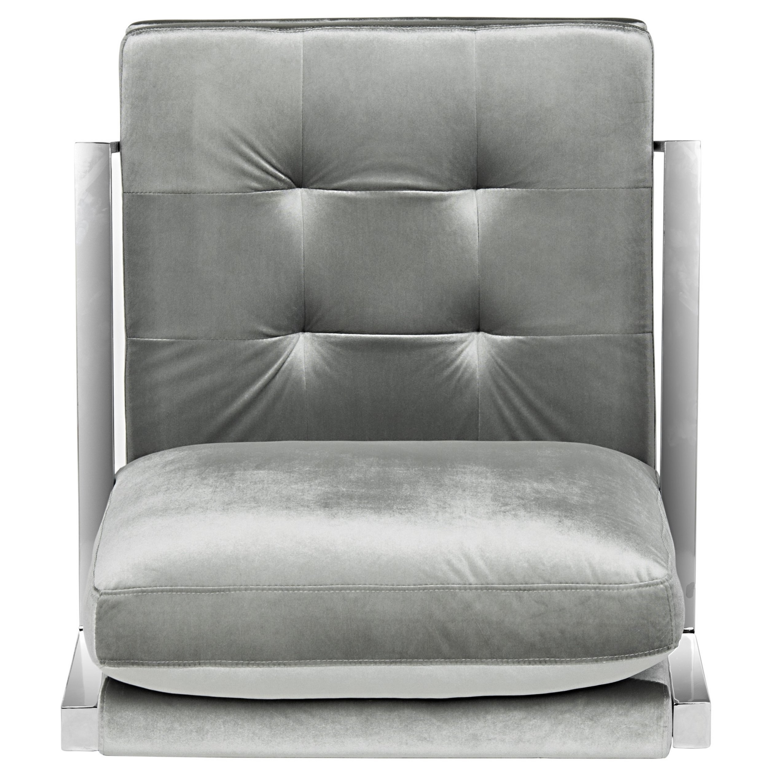 Inspiration about Most Recently Released Walden Upholstered Arm Chairs Throughout Shop Safavieh Mid Century Modern Glam Walden Velvet Light Grey Club (#20 of 20)