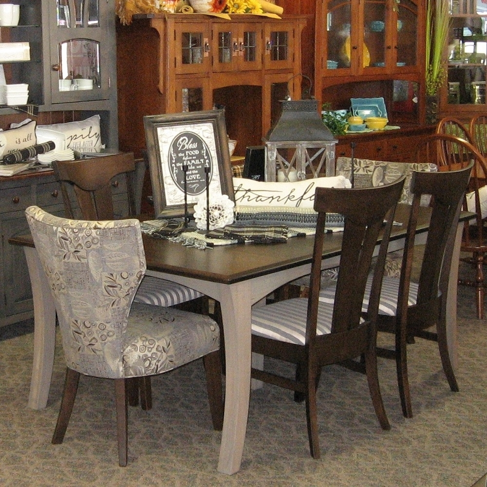 "Most Up To Date Chandler Fabric Side Chairs Regarding 48"" X 72"" Chandler Dining Table With 4 12"" Leaves, Set Includes  (#14 of 20)"