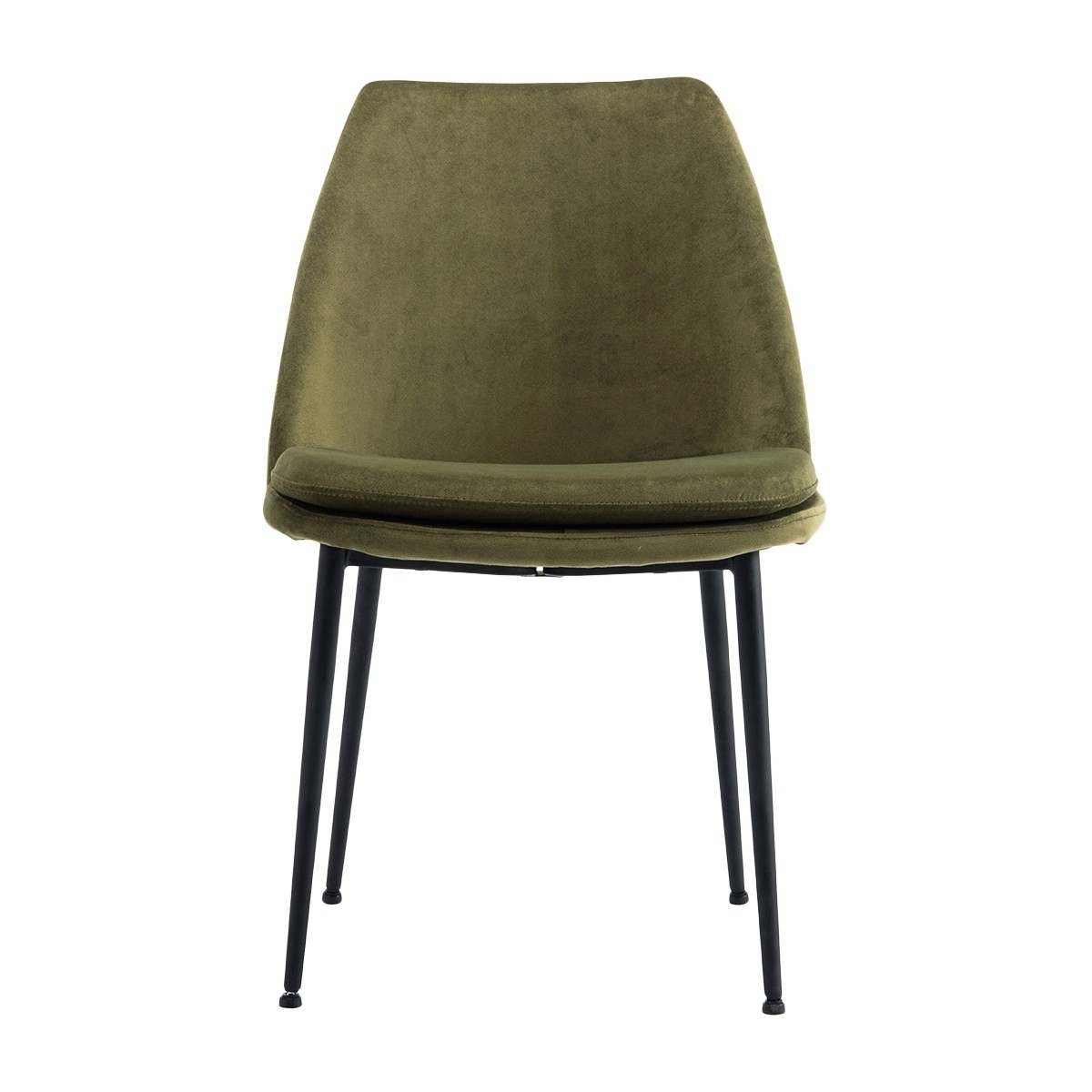 Most Up To Date Dark Olive Velvet Iron Dining Chairs Inside Life Interiors – Ashton Velvet Dining Chair (black) – Modern (View 7 of 20)