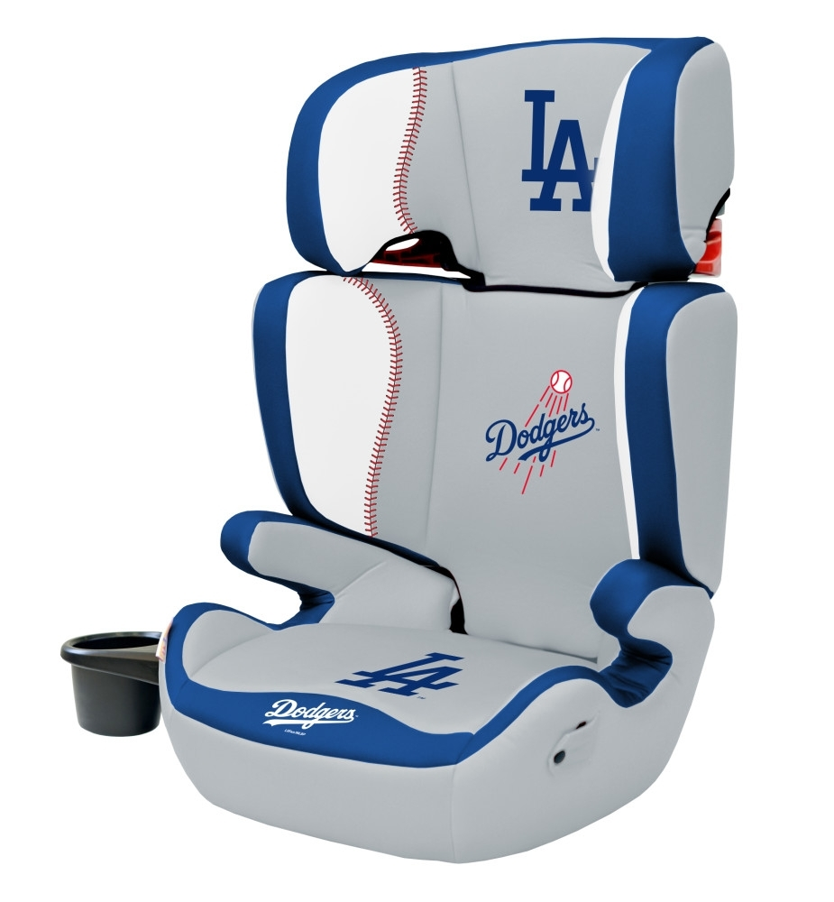 Inspiration about Most Up To Date Dodger Side Chairs With Regard To Los Angeles Dodgers 2 In 1 High Back Booster Seat – Lil Fan (#11 of 20)