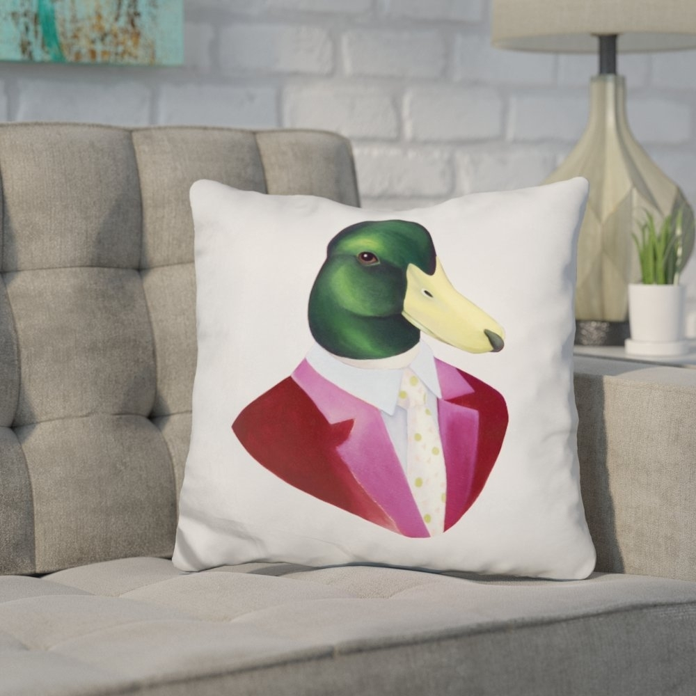 Most Up To Date Mallard Side Chairs With Cushion Pertaining To Wrought Studio Hestia Mallard Duck Throw Pillow (View 11 of 20)