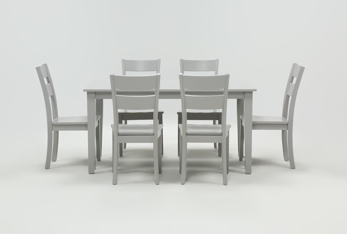 Inspiration about Most Up To Date Mandy Paper White Side Chairs Pertaining To Lindy 7 Piece Dove Grey Rectangle Dining Set (#3 of 20)