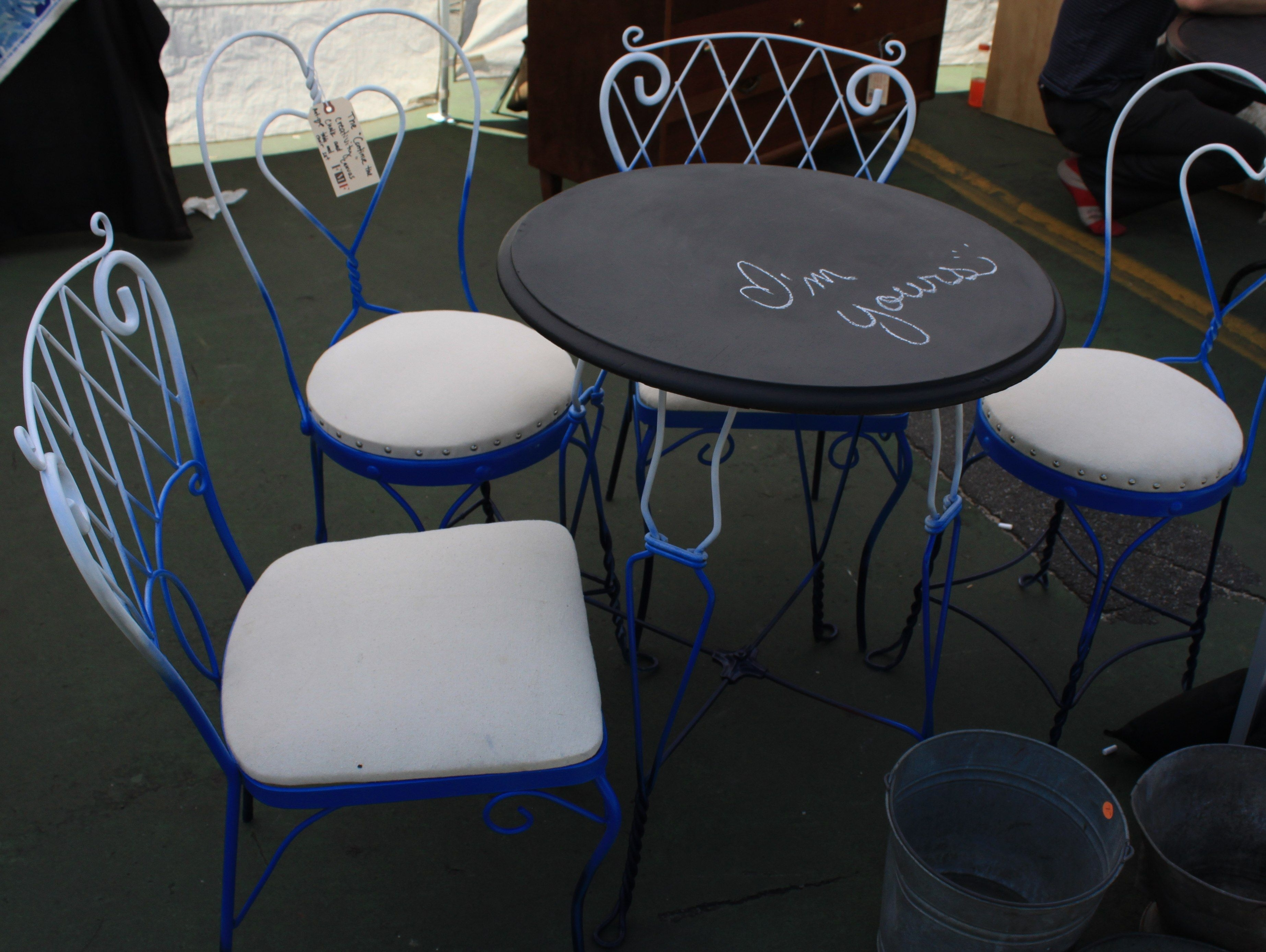 Inspiration about Most Up To Date Spray Paint + Chalkboard Paint = Funky Facelift On This Flea Market In Market Host Chairs (#17 of 20)