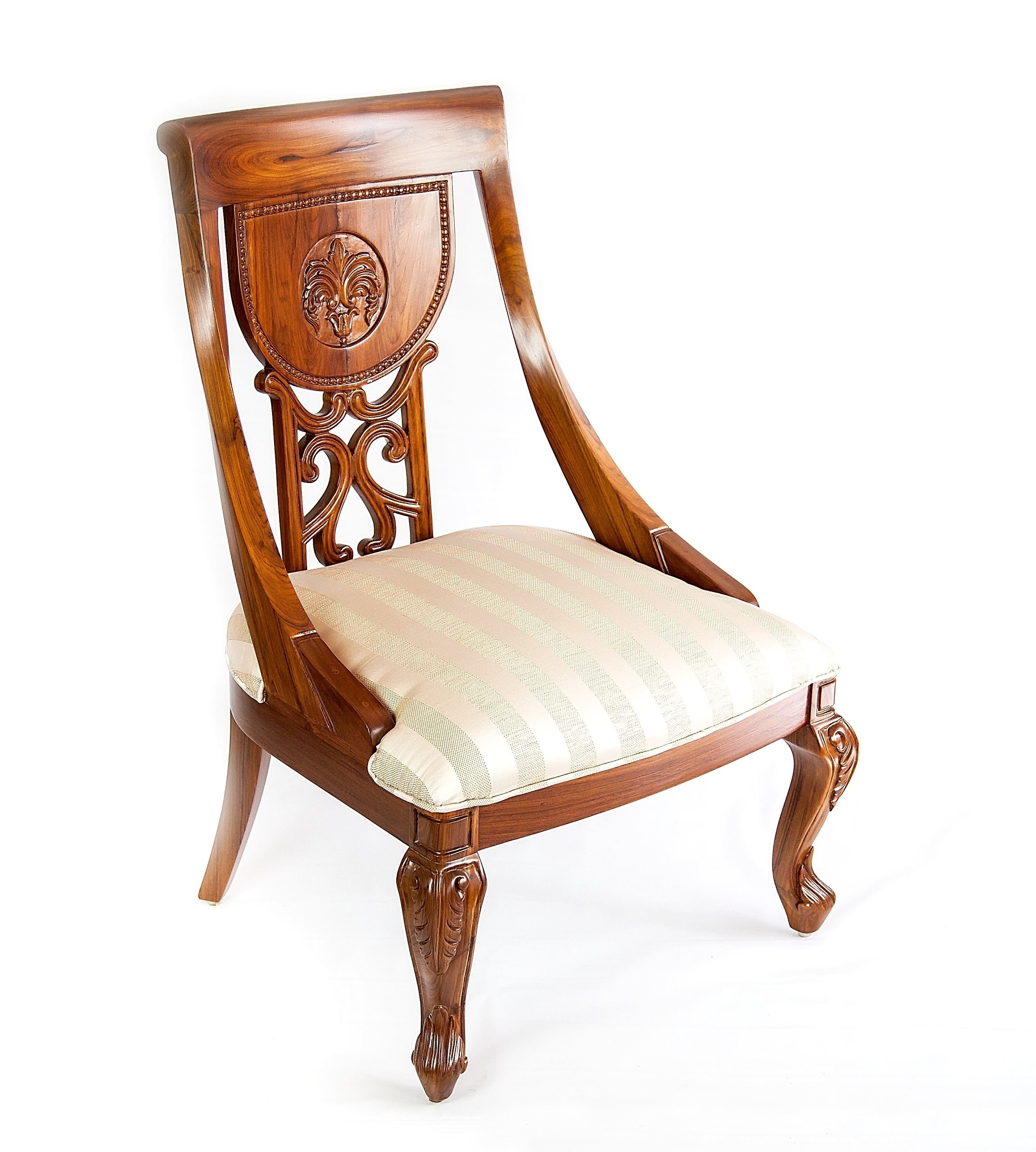 Most Up To Date The Silver Teak Engraved Florence Dining Chair (#8 of 20)