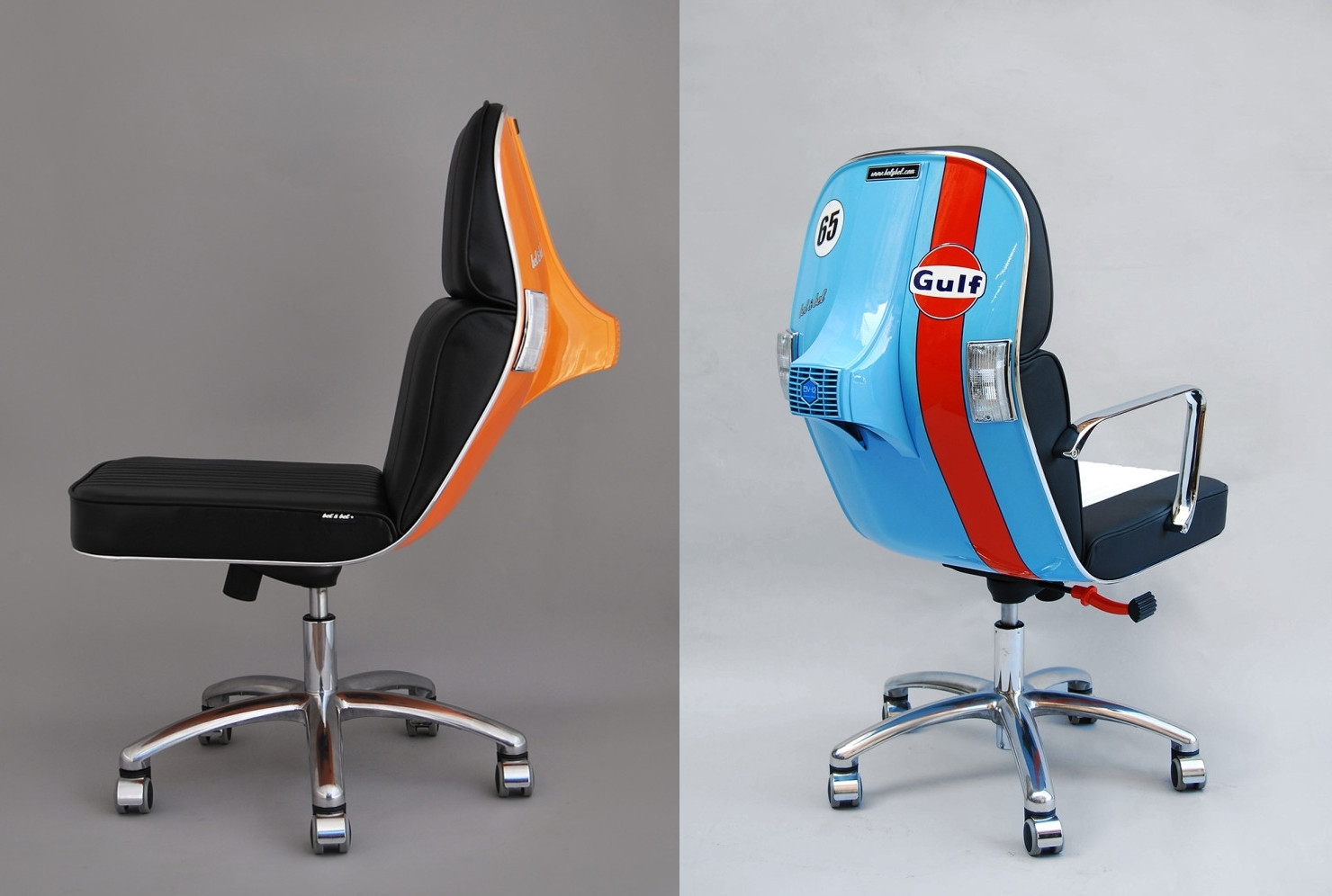 Inspiration about Most Up To Date Vespa Side Chairs Pertaining To Office Chairs Made Out Of Old Vespa Scooters / Boing Boing (#14 of 20)