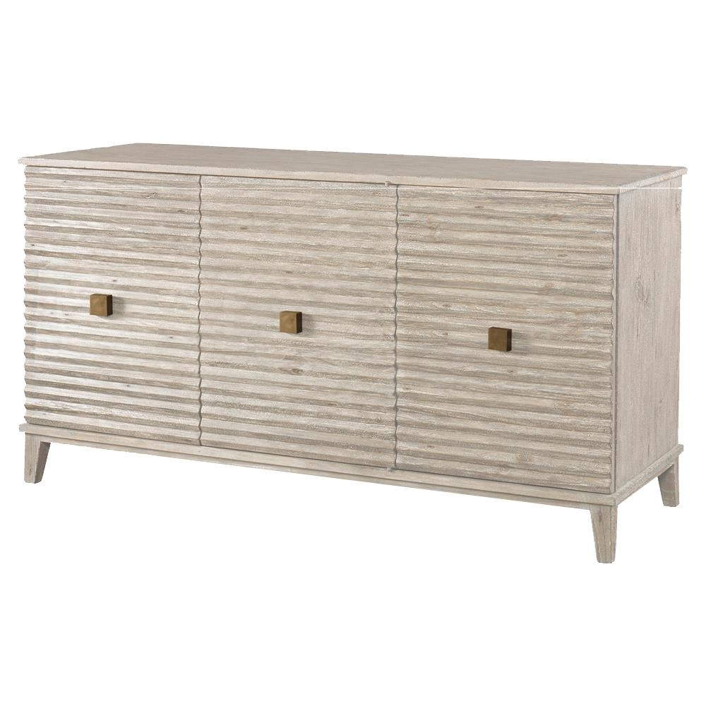 Inspiration about Mr. Brown Belmont Modern Classic Rustic White Corrugated Sideboard Within Most Up To Date Corrugated Natural 6 Door Sideboards (#2 of 20)