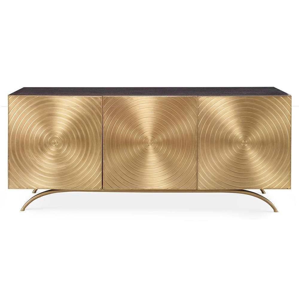 Inspiration about Mr. Brown Claudio Modern Regency Gold Sideboard Cabinet | 柜子 新 Pertaining To Most Popular Geo Capiz Sideboards (#13 of 20)