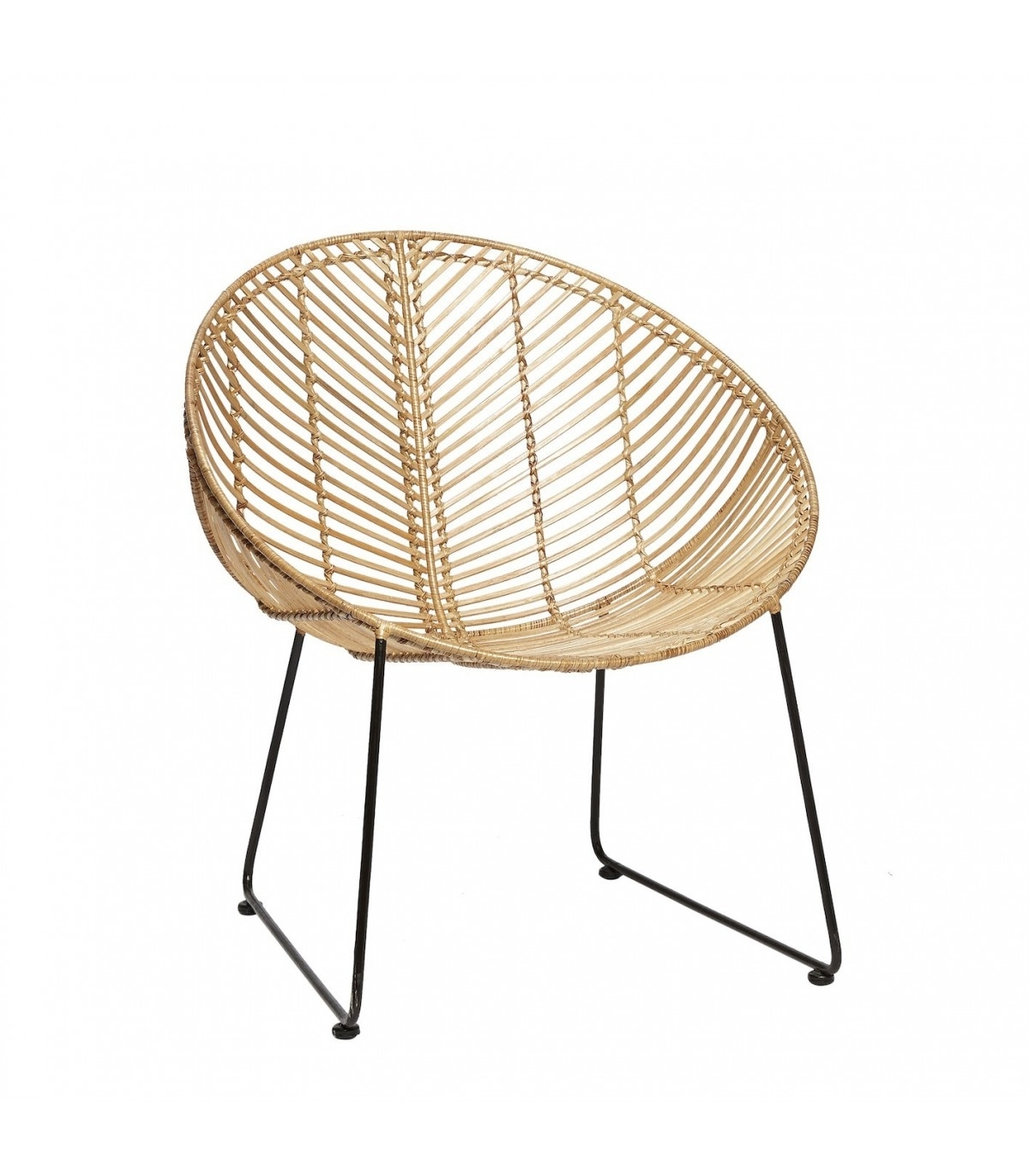 Natural Rattan Metal Chairs Throughout Most Popular Natural Rattan Round Chair Hbsch (View 19 of 20)