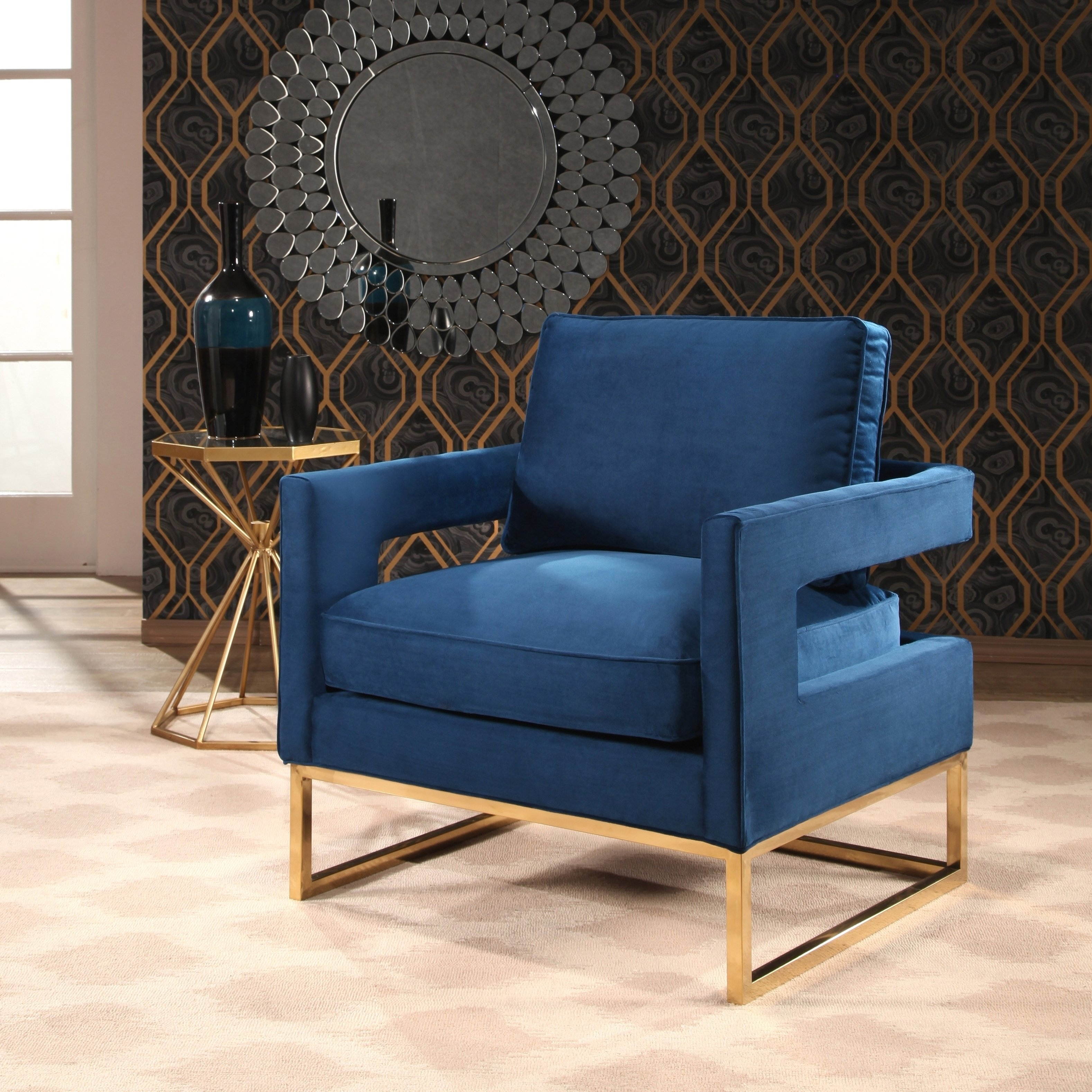 Nautical Blue Side Chairs Inside Best And Newest Buy Living Room Chairs Online At Overstock (#8 of 20)