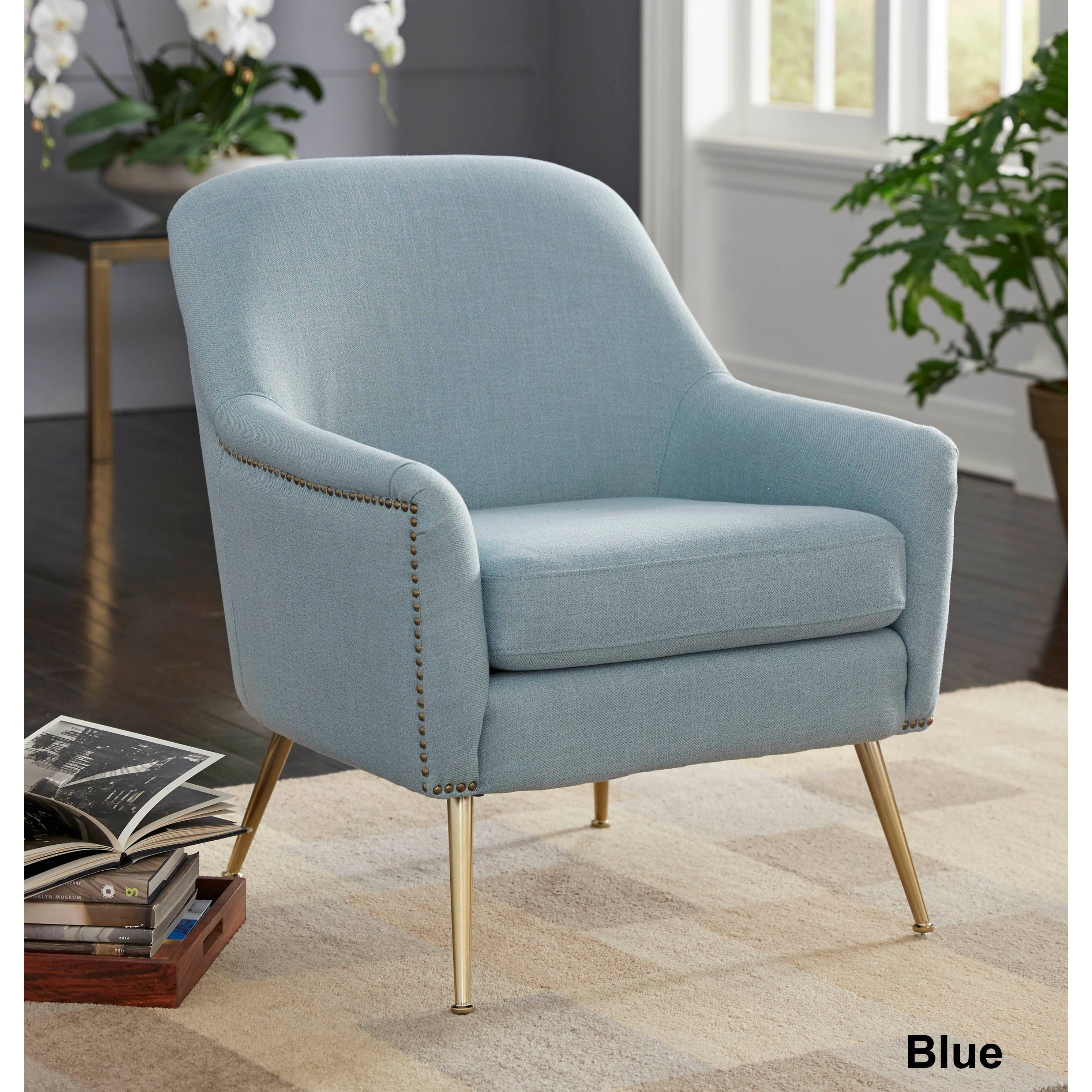 Nautical Blue Side Chairs With Regard To Latest Buy Living Room Chairs Online At Overstock (#11 of 20)