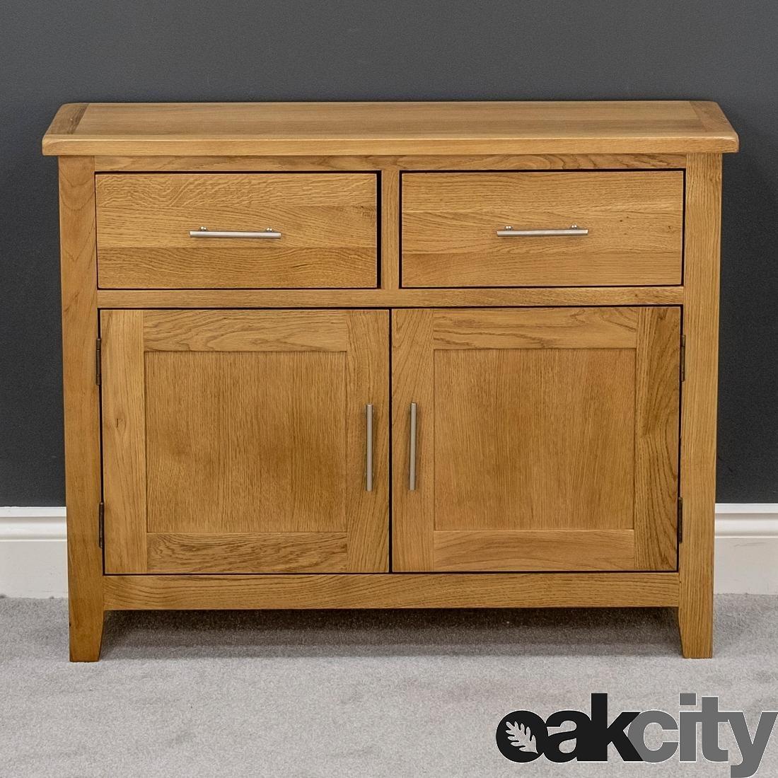 Nebraska Oak Sideboard / Small Solid Wood 2 Door Storage Cabinet Intended For Best And Newest Natural Oak Wood 2 Door Sideboards (View 2 of 20)