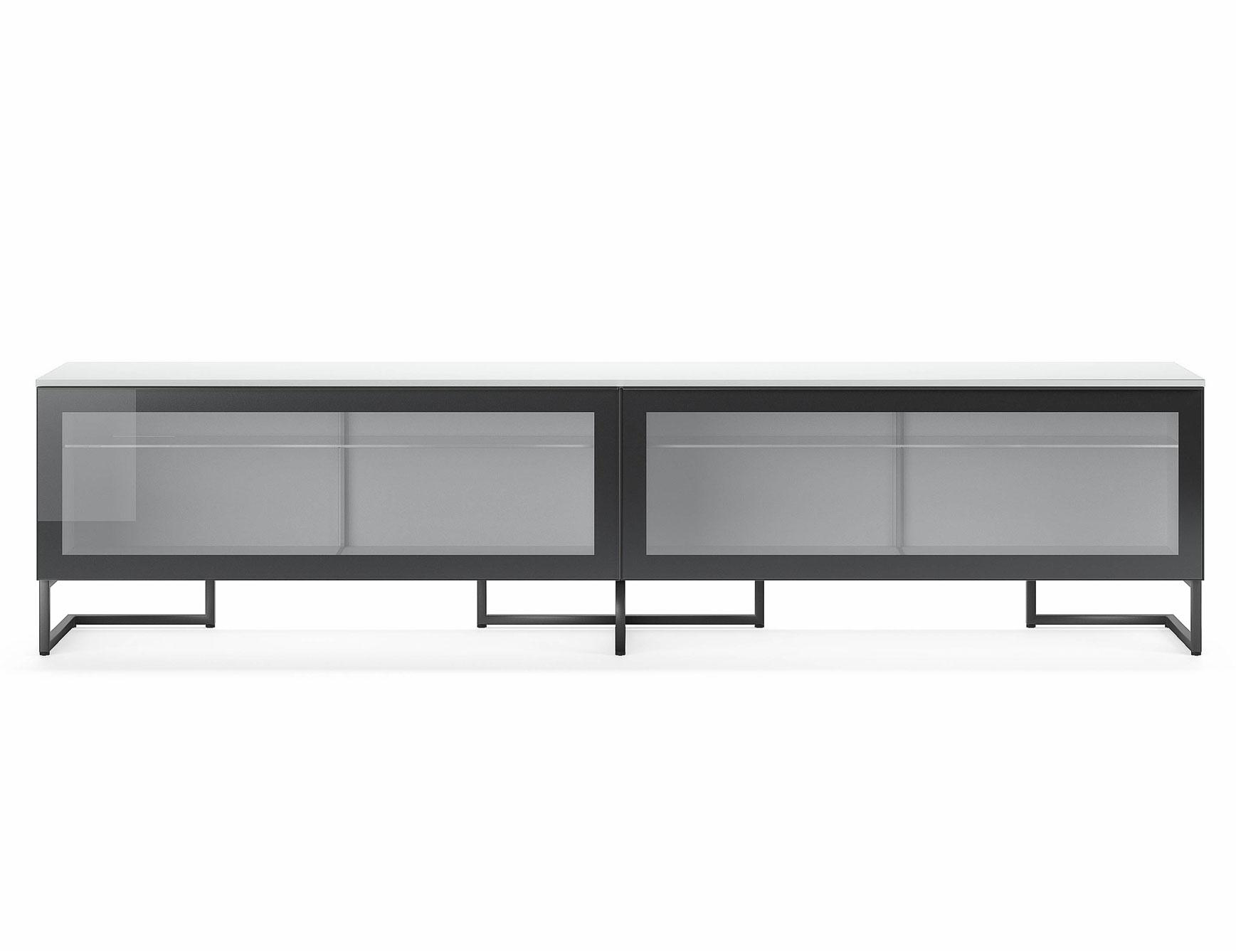 Nella Vetrina Pianca Spazio Sgm240 Contemporary Italian Tv Unit In Regarding Most Current Black Burnt Oak Sideboards (View 14 of 20)