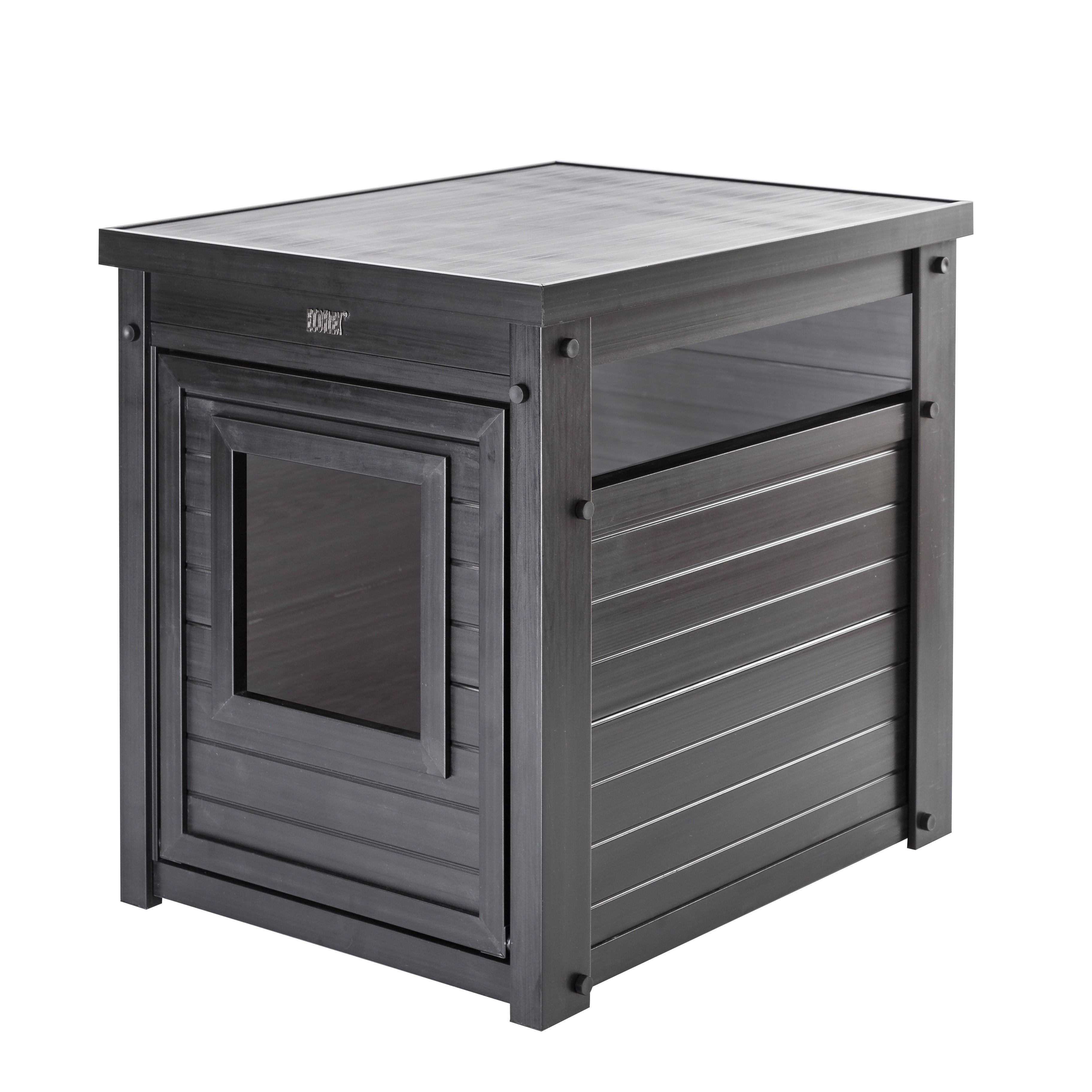 New Age Pet, Cat Litter Box Cover And End Table, Espresso – Walmart Intended For Recent Charcoal Finish 4 Door Jumbo Sideboards (View 19 of 20)