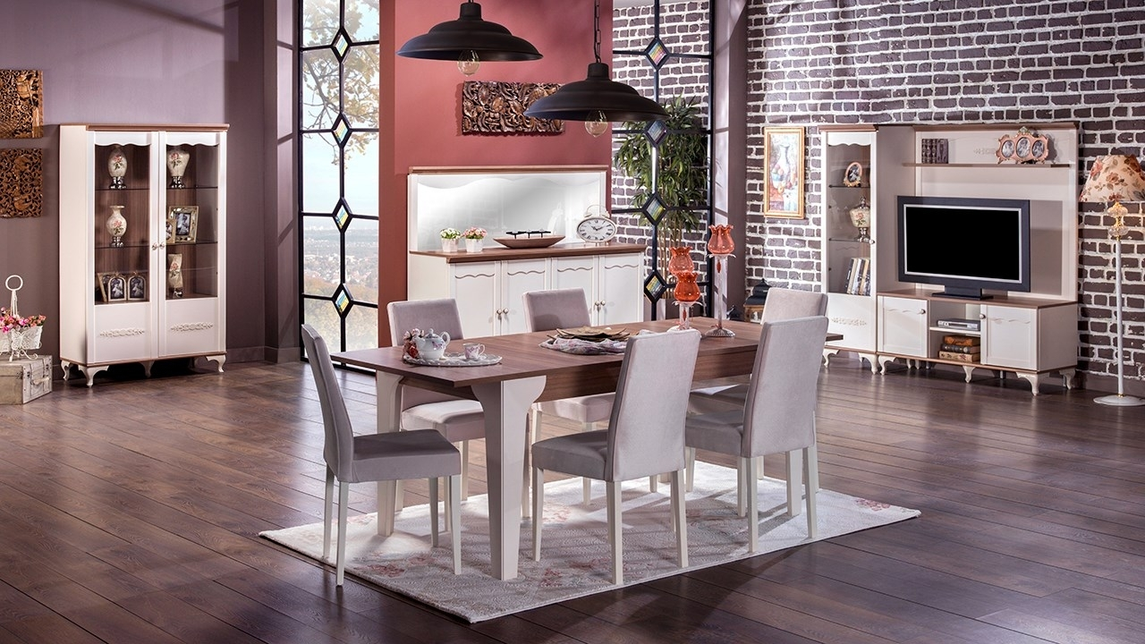 Newest Perla Side Chairs Regarding Perla Dining Room – Istikbal Furniture (#6 of 20)