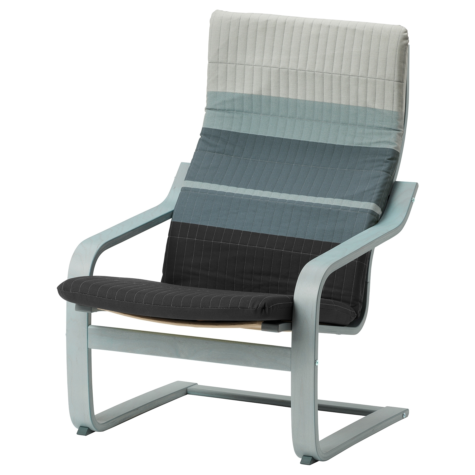 Newest Poäng Armchair Blue/grey/lyskraft Blue/grey – Ikea Intended For Pilo Blue Side Chairs (View 16 of 20)