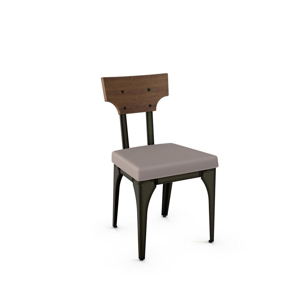 Newest Rally Grey Cushion Brown Wood Back Dining Chair (Set Of 2) 31661 Pertaining To Plywood & Metal Brown Dining Chairs (#8 of 20)