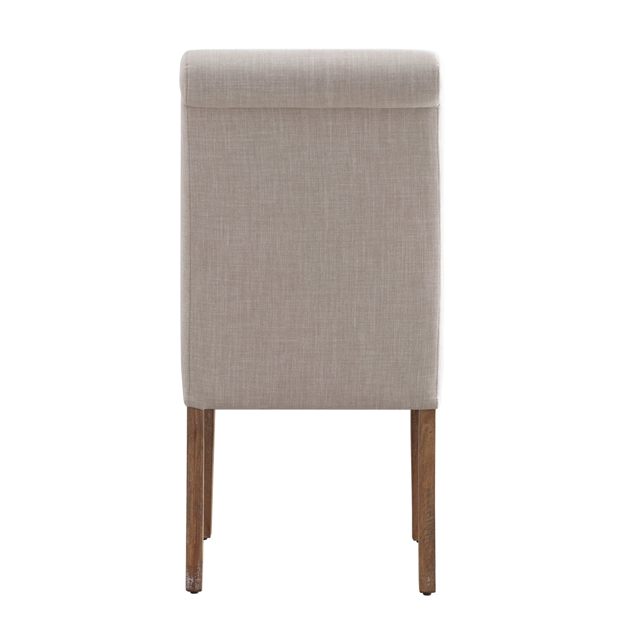 Newest Shop Potomac Slipcovered Rolled Back Parsons Chairs (Set Of 2) Intended For Garten Linen Skirted Side Chairs Set Of  (View 10 of 20)