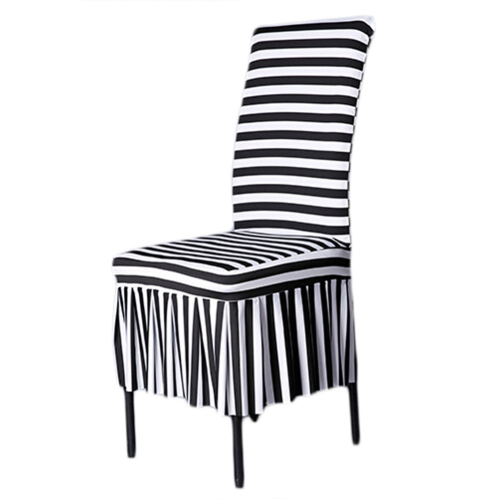 Newest Surprising Black And White Striped Dining Chair Covers Navy Room Within Blue Stripe Dining Chairs (View 15 of 20)
