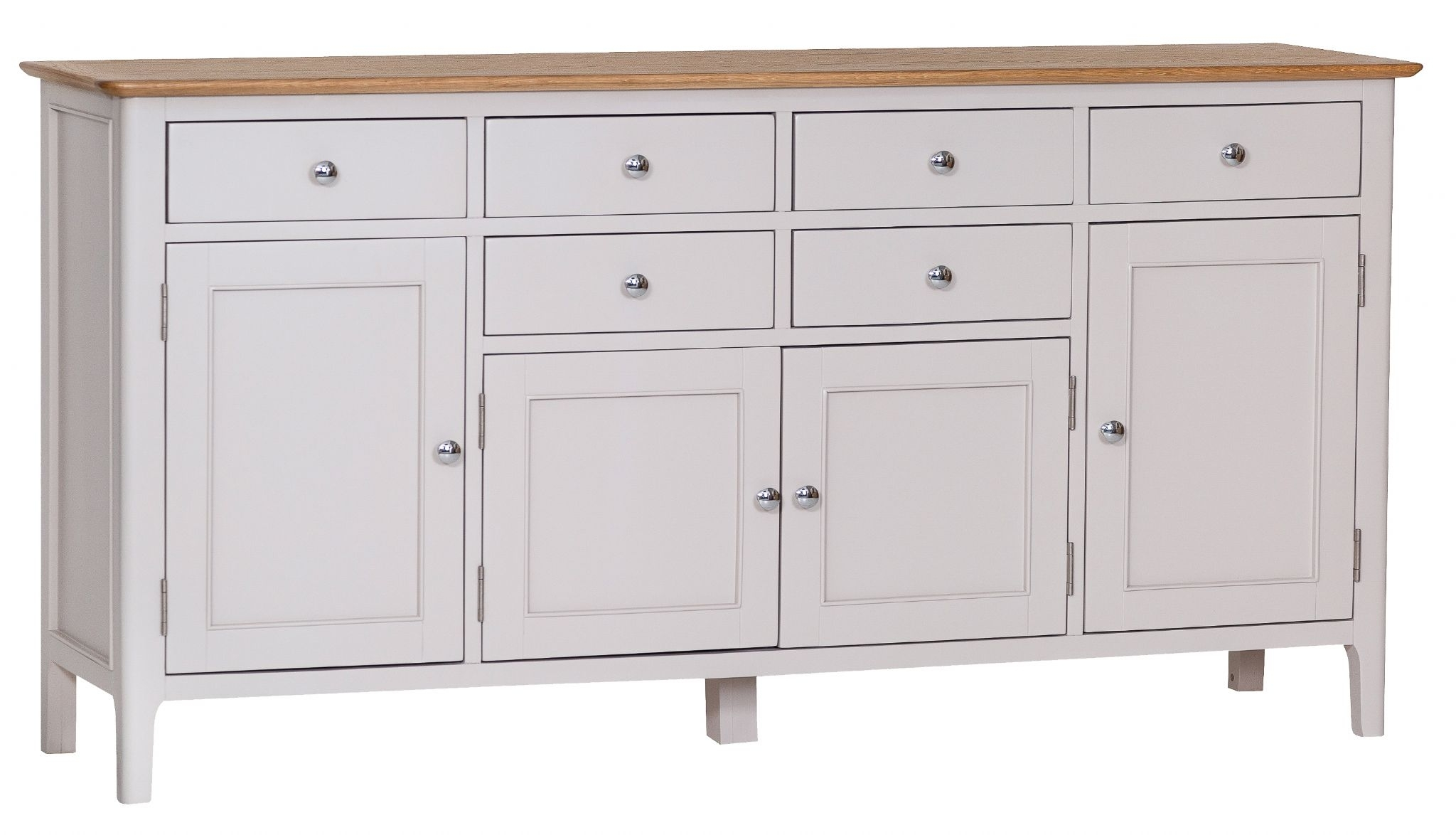 Newhaven Oak 4 Door Sideboard | Blueberry Square Within Current 4 Door Wood Squares Sideboards (#14 of 20)