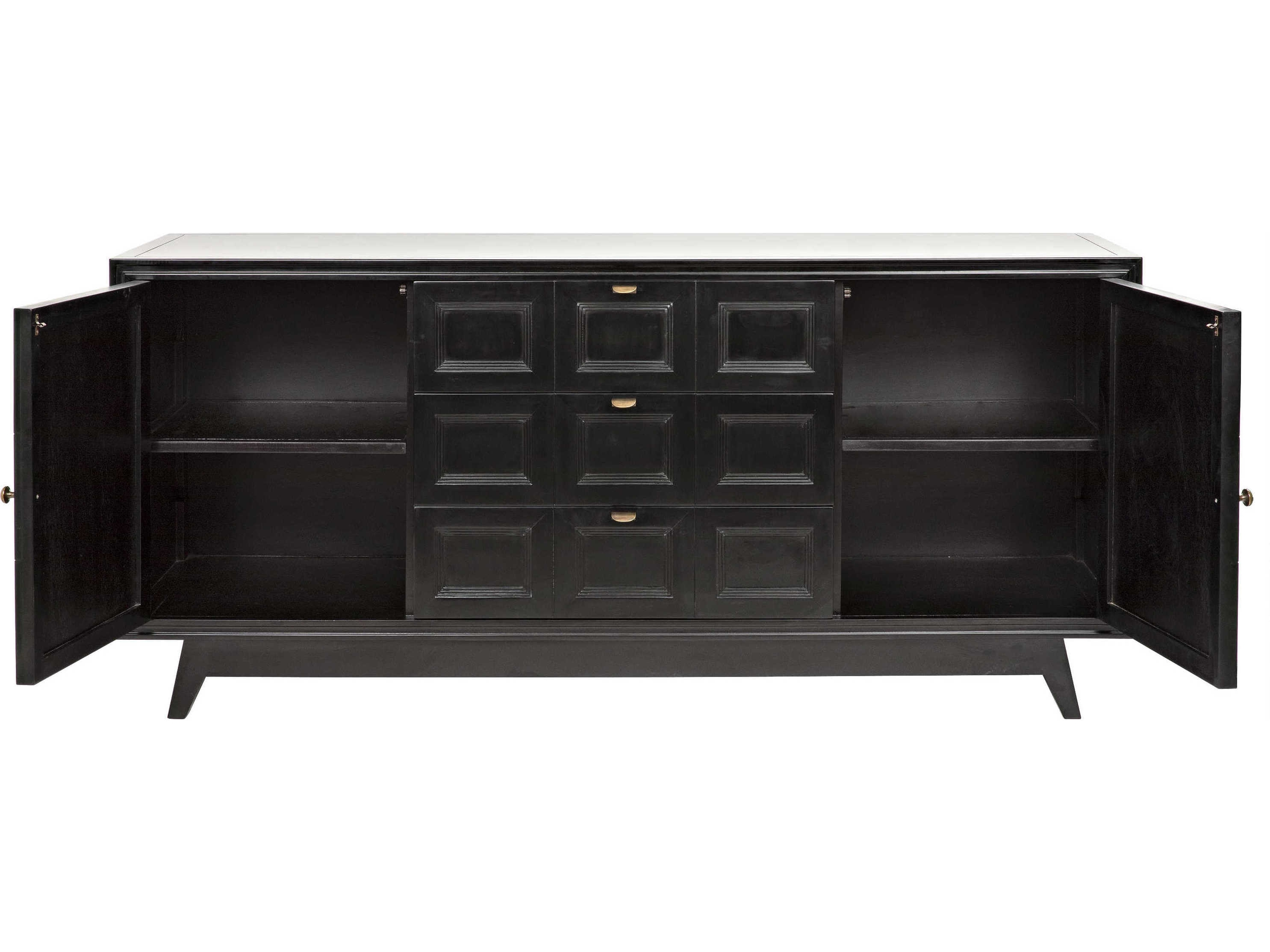 Noir Furniture Wyatt Charcoal 73'' X 23'' Sideboard | Noigcon249ch Within Latest Wyatt Sideboards (View 12 of 20)