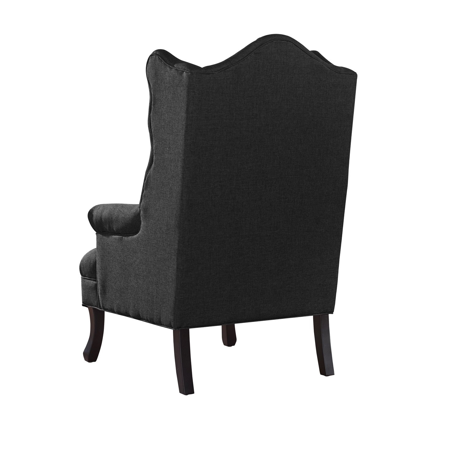 Norwood Upholstered Hostess Chairs Throughout Most Popular Shop Baxton Studio Norwood Grey Fabric Upholstered Wing Back Accent (View 7 of 20)