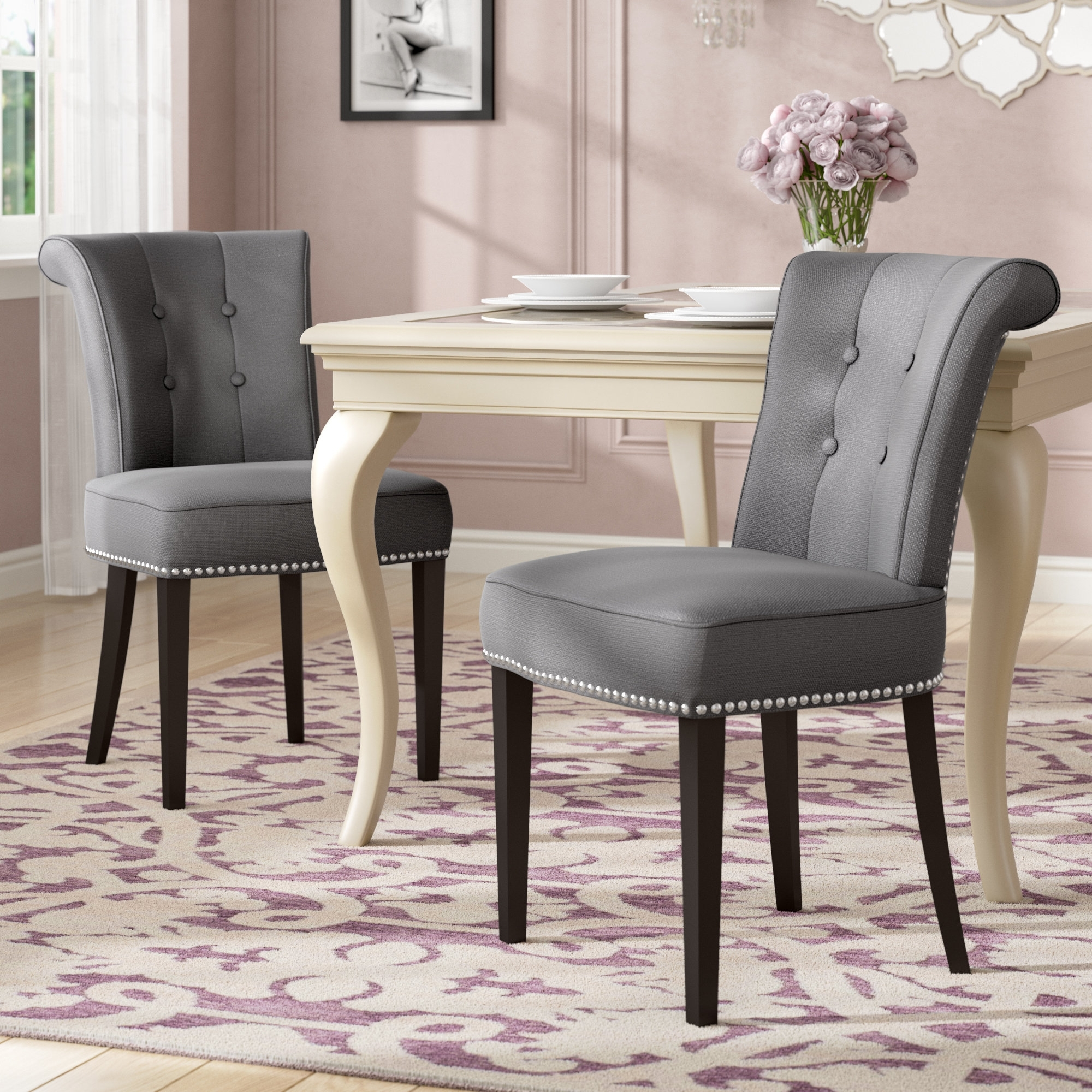 Norwood Upholstered Side Chairs Throughout Fashionable House Of Hampton Florentine Side Chair & Reviews (#12 of 20)