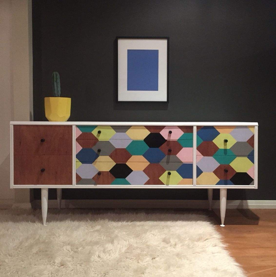 Number 24' 1950S 7 Drawer Sideboard (#13 of 20)