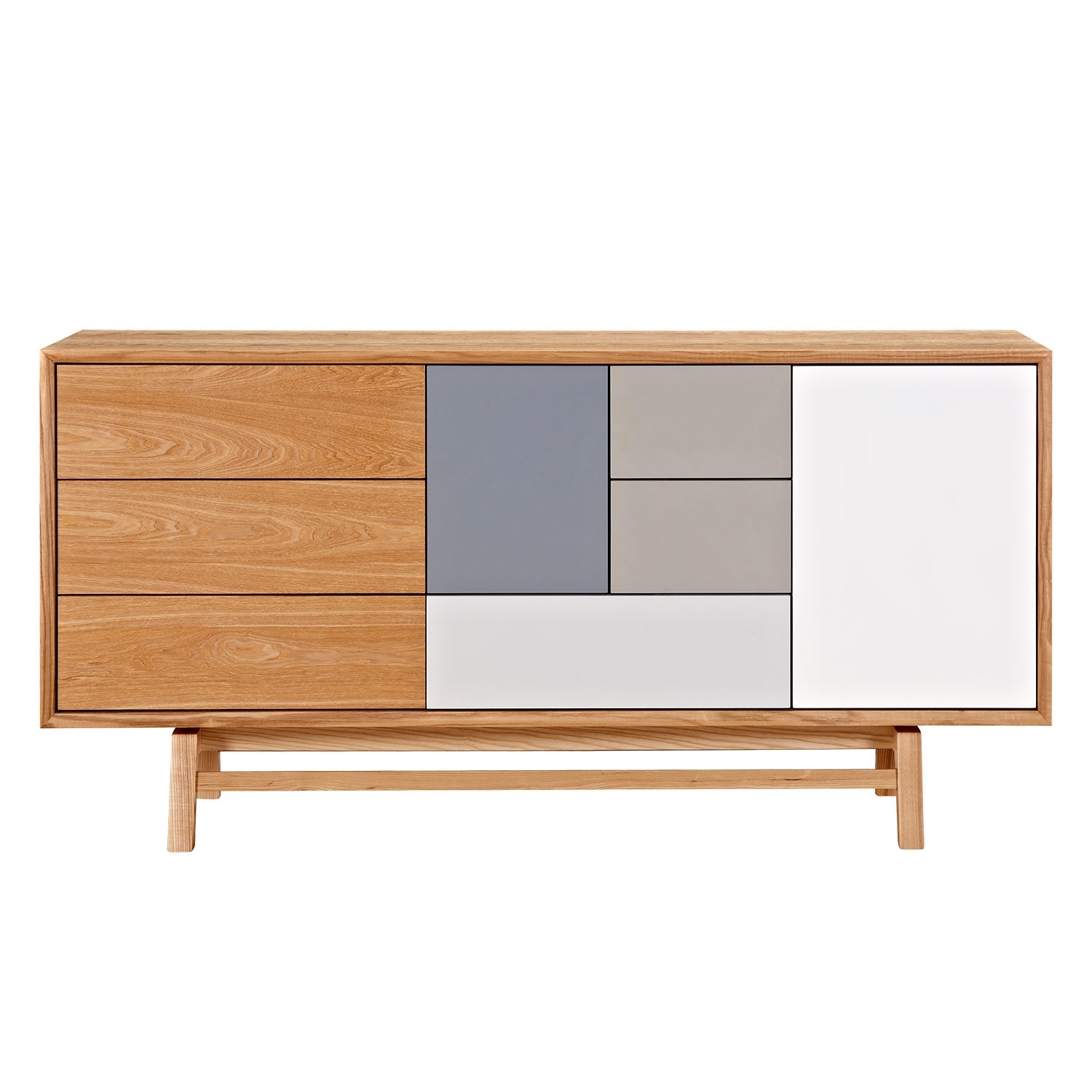 Nyekoncept Grane Sideboard | Wayfair With Most Recent Open Shelf Brass 4 Drawer Sideboards (View 5 of 20)