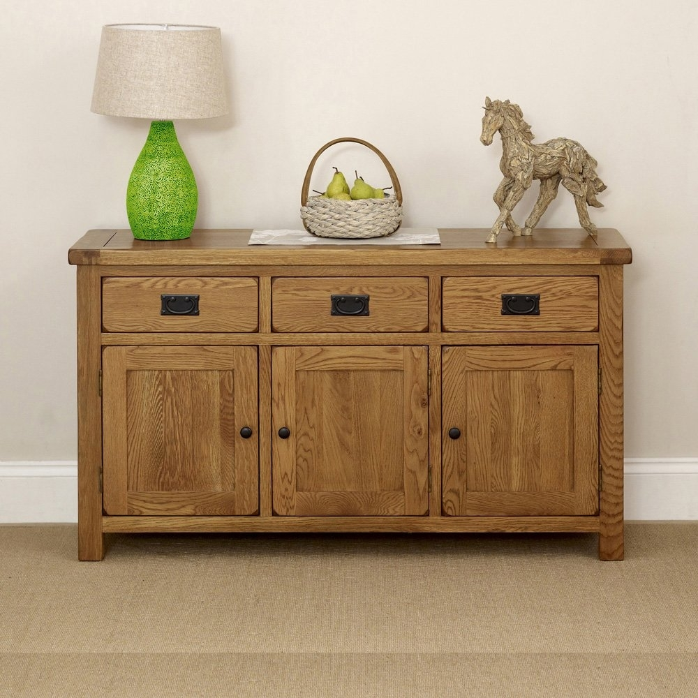 Oak Furniture | Ranges | The Furniture Market Inside Latest Rustic Black & Zebra Pine Sideboards (View 3 of 20)