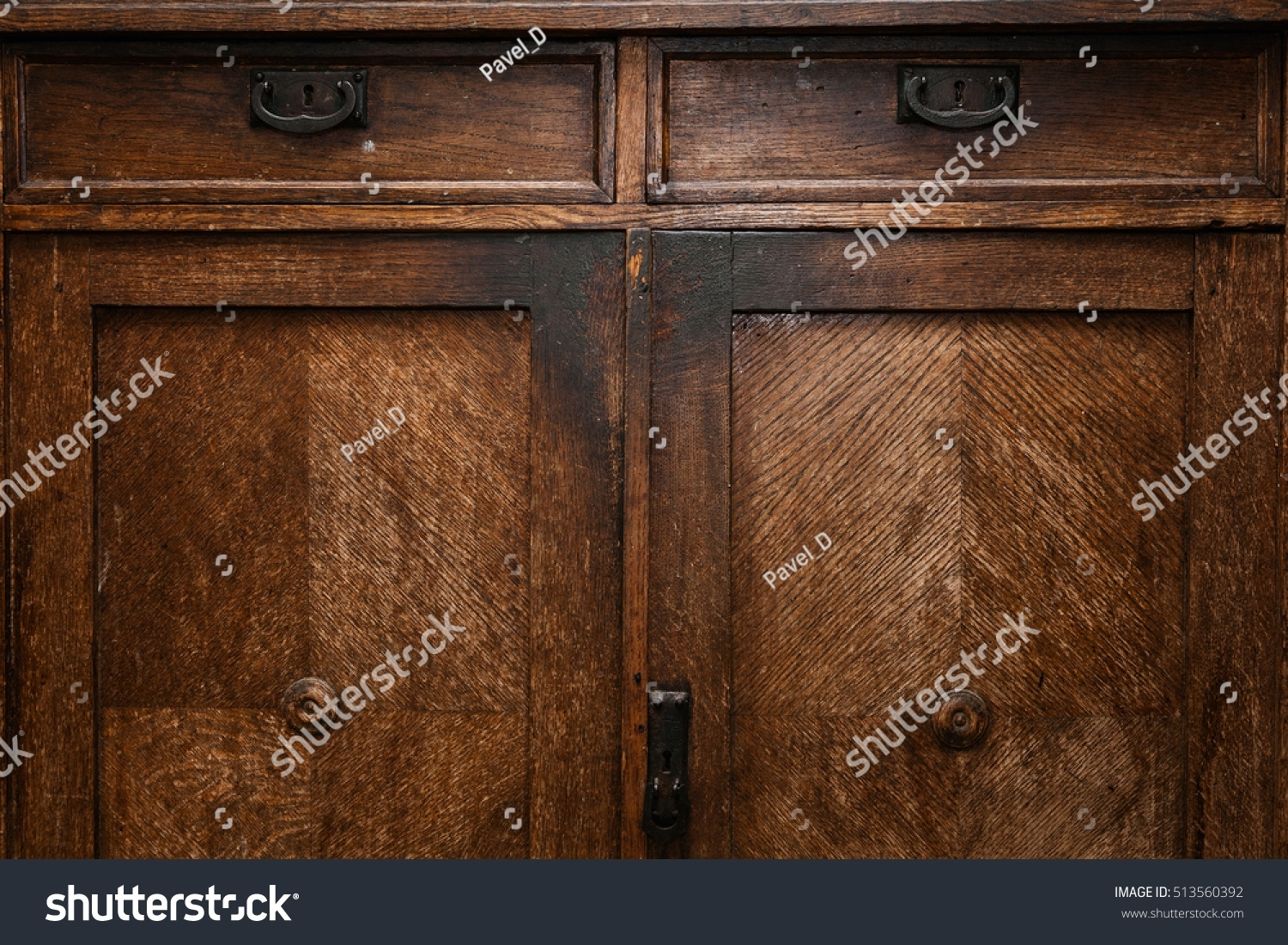 Old Vintage Wooden Sideboard Antique Furniture Stock Photo (Edit Now For Newest Vintage Brown Textured Sideboards (View 18 of 20)